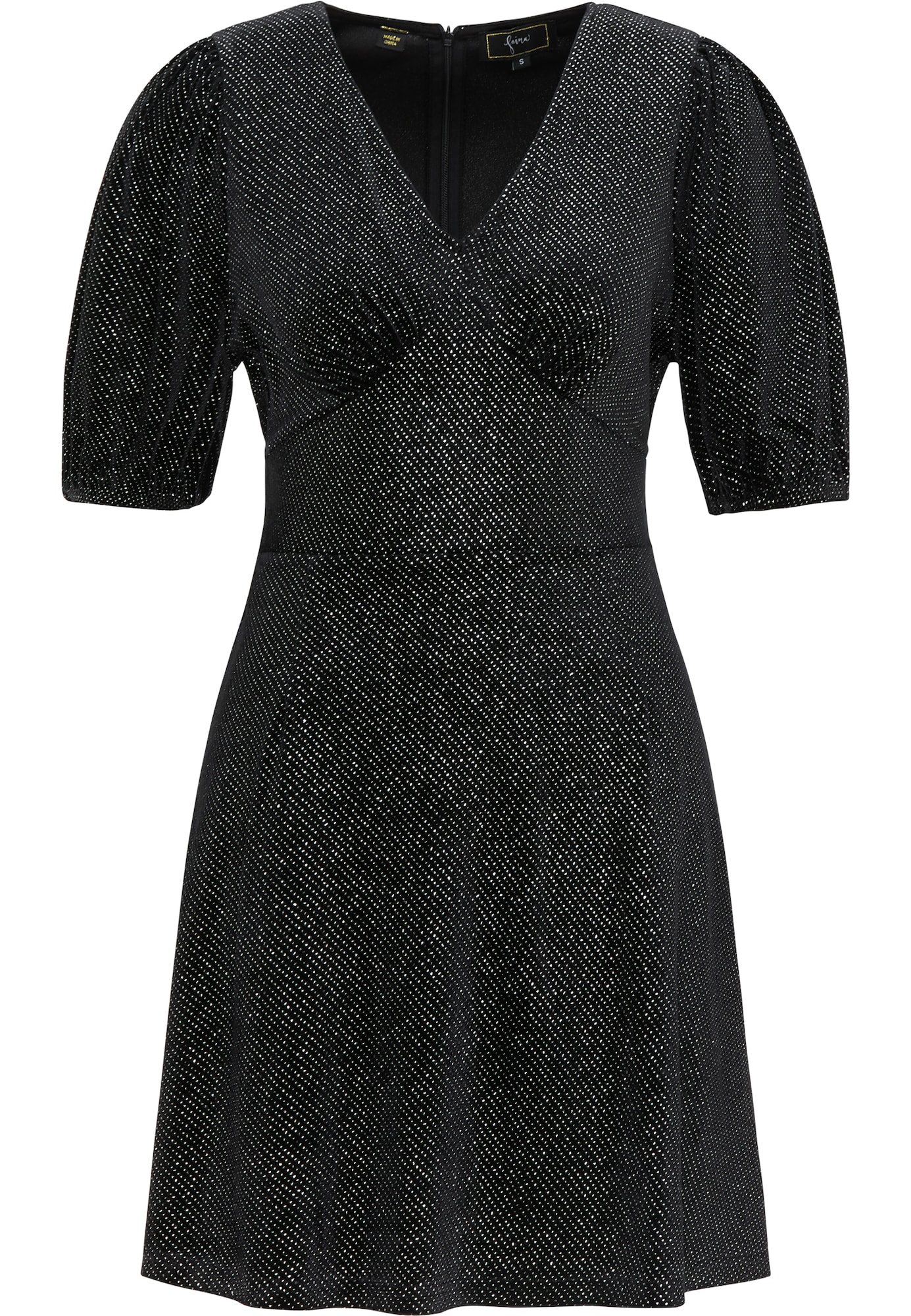 faina Kokteilinė suknelė margai juoda