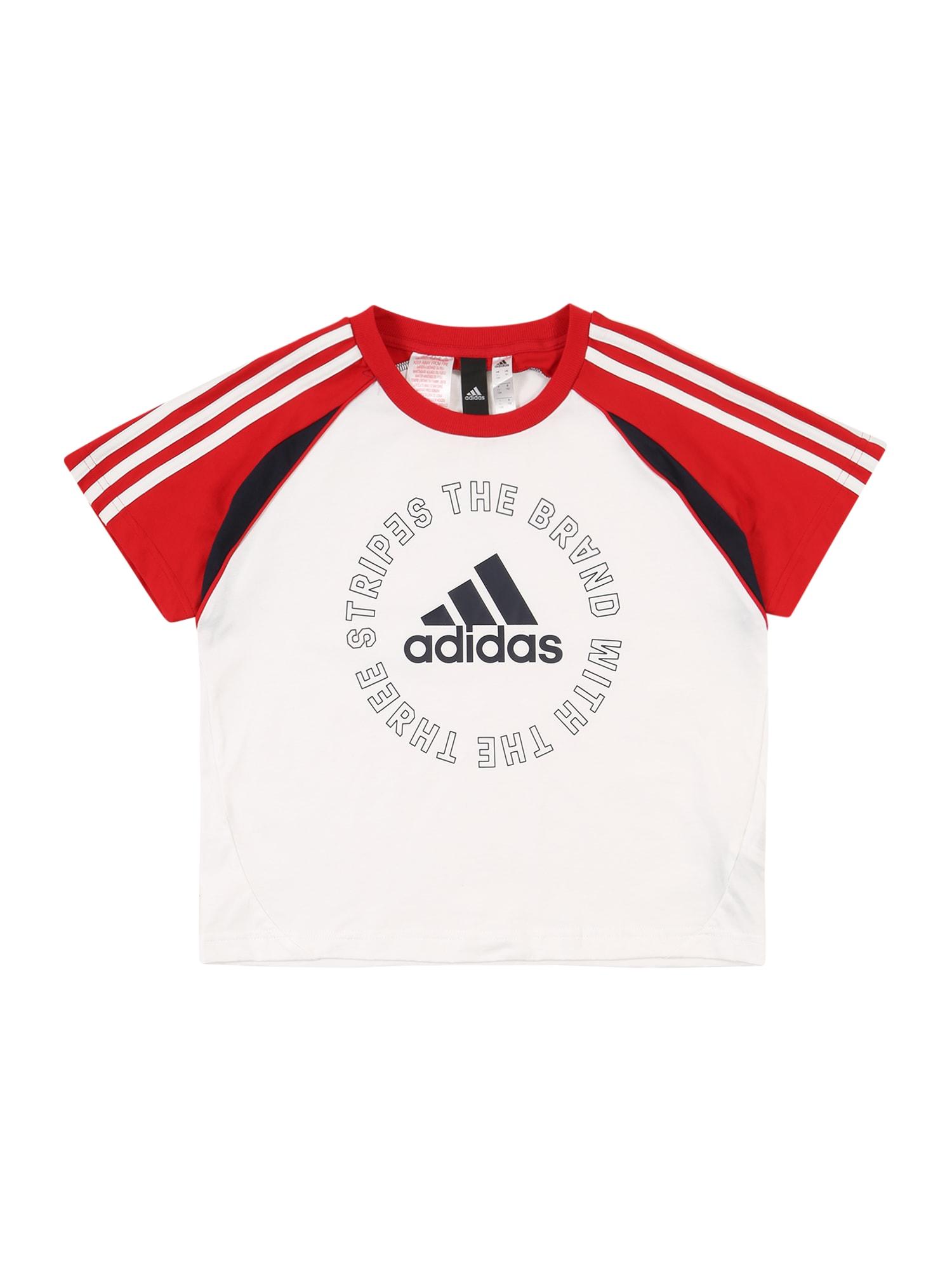 ADIDAS PERFORMANCE Sportiniai marškinėliai raudona / balta