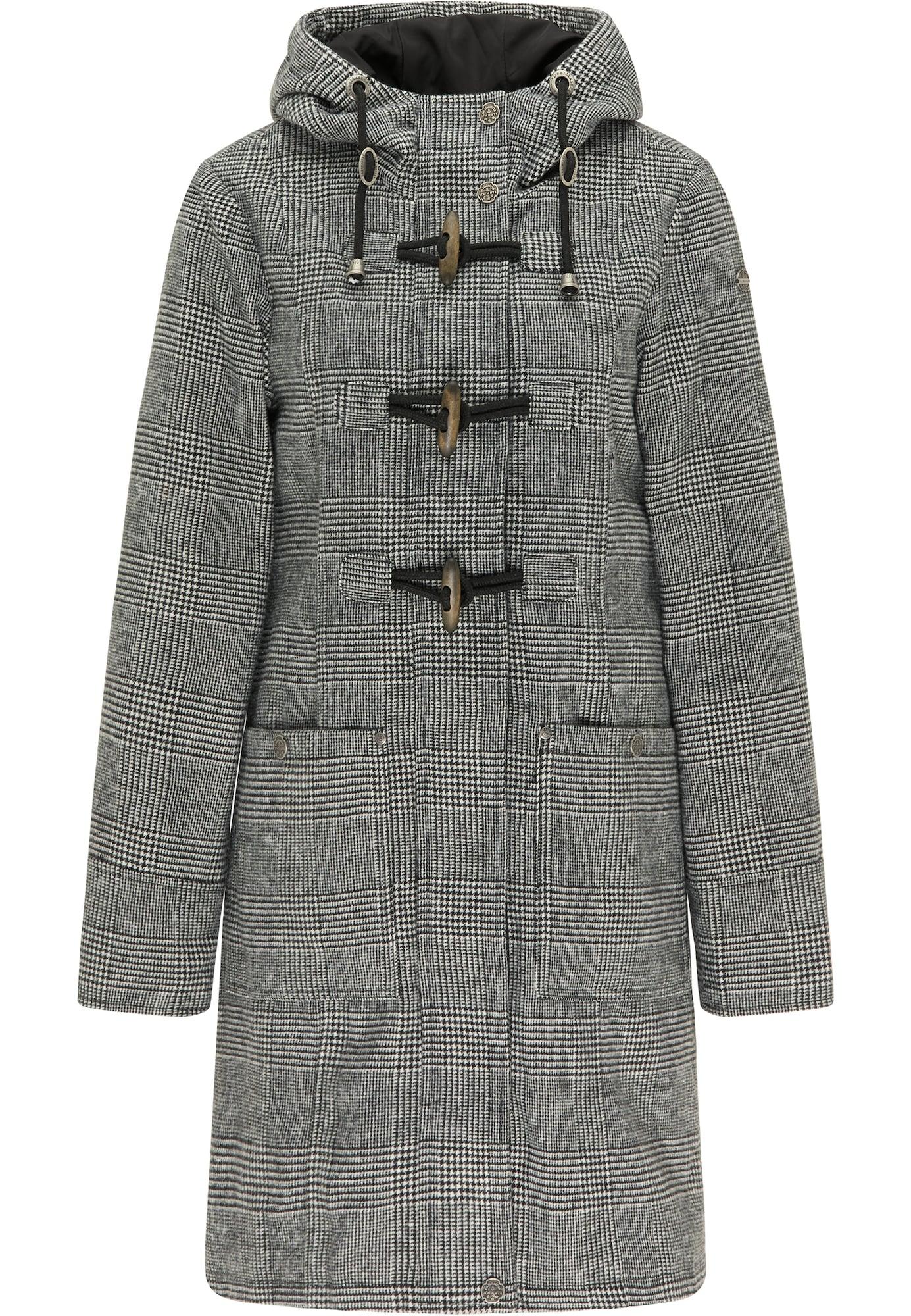 DreiMaster Vintage Žieminis paltas juoda / pilka