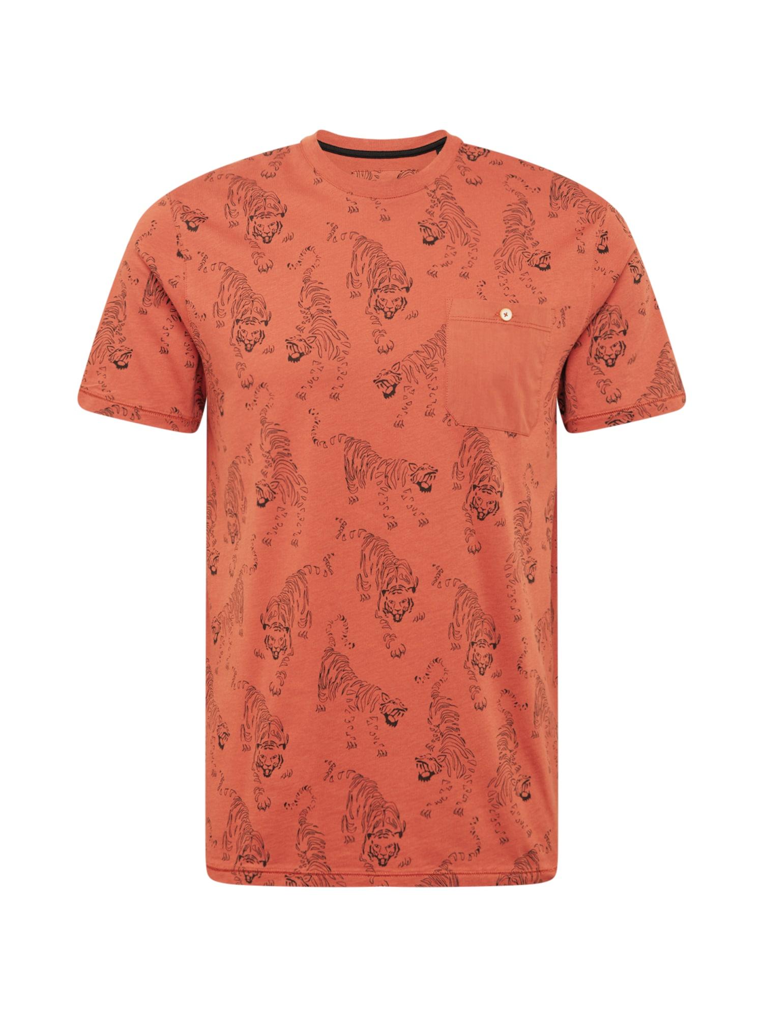 Ted Baker Marškinėliai tamsiai oranžinė / juoda