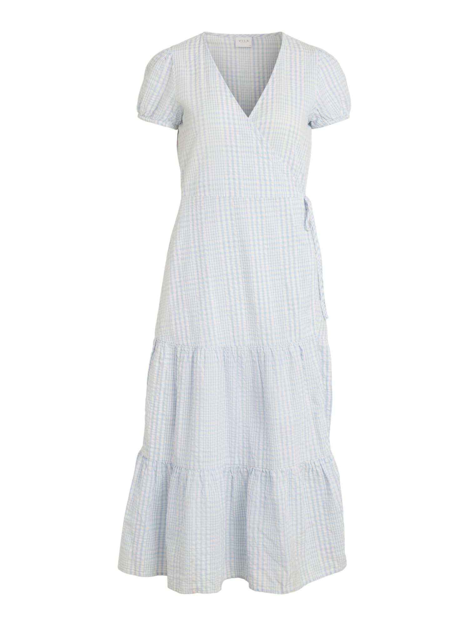VILA Šaty 'Margoritta'  bílá / světlemodrá
