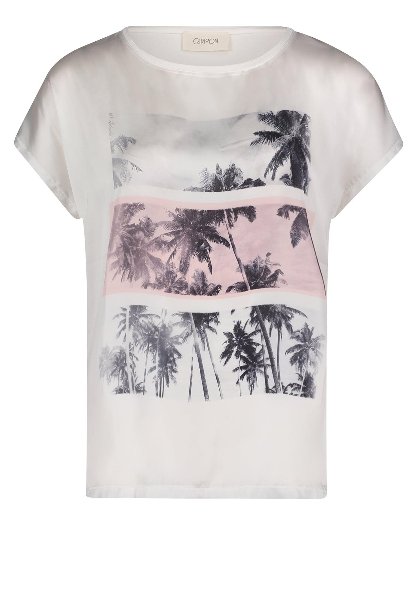 Cartoon Marškinėliai balta / rožių spalva