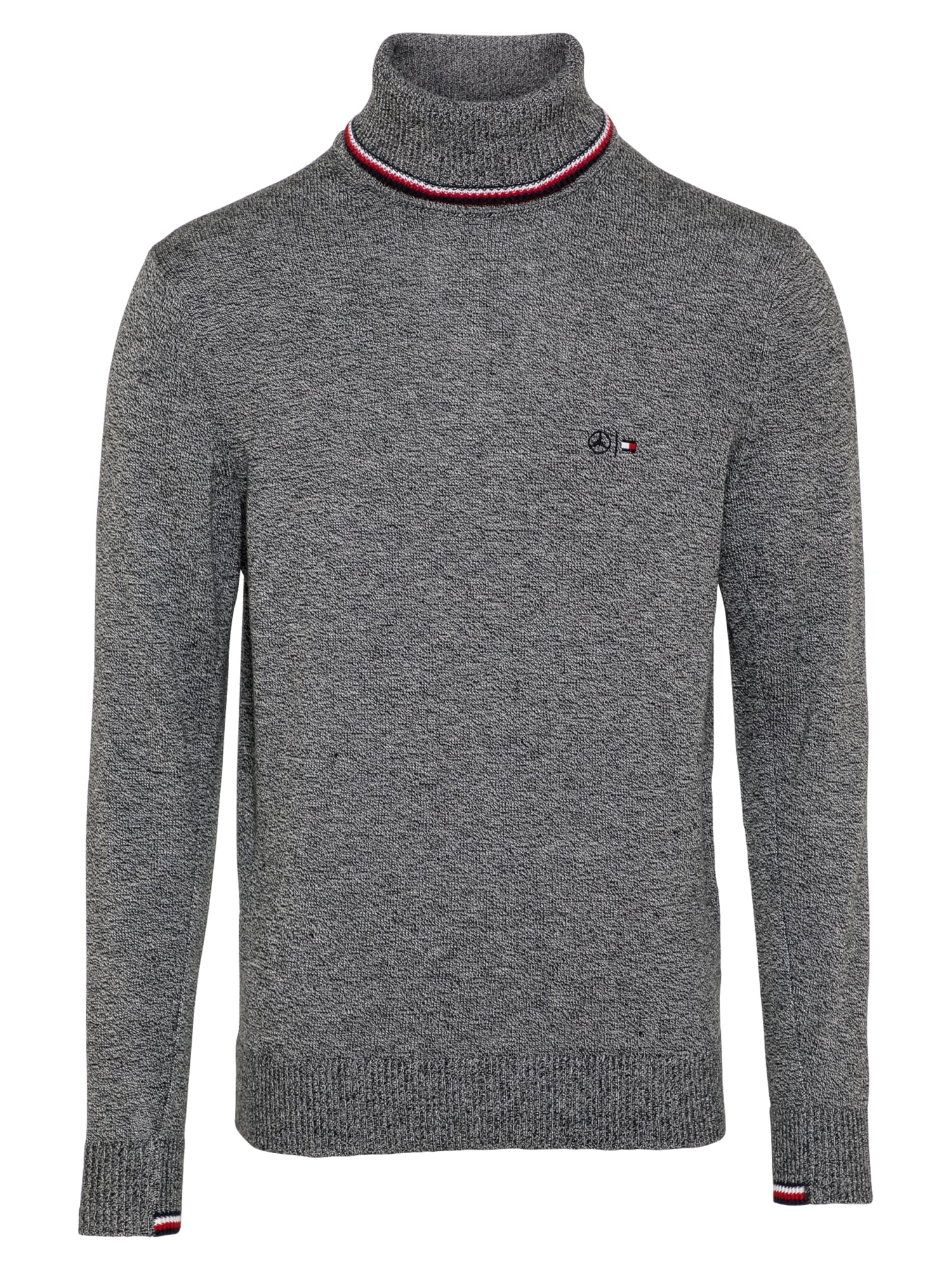 Tommy Hilfiger Tailored Megztinis pilka / balta