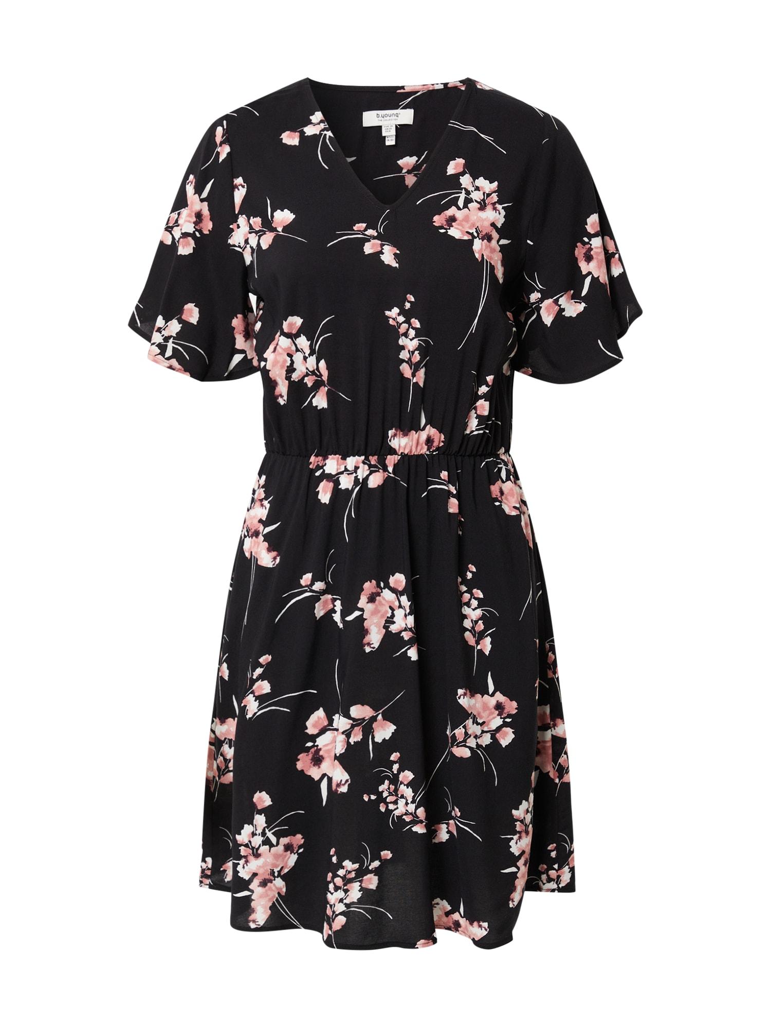 b.young Vasarinė suknelė 'JOELLA' juoda / rožių spalva / balta