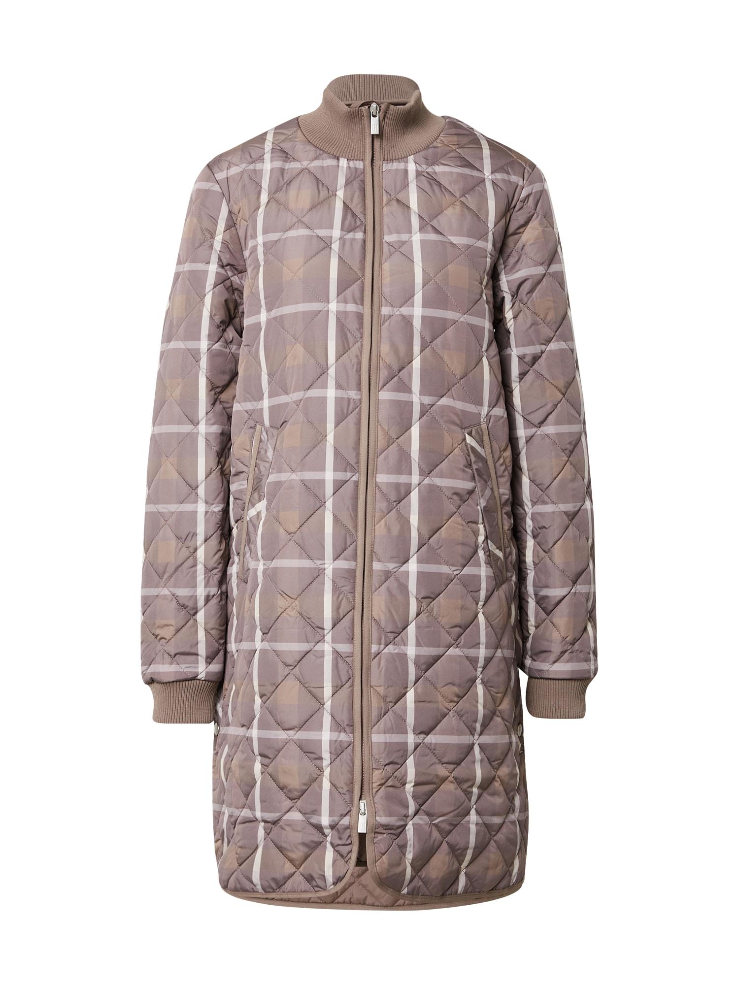 ILSE JACOBSEN Demisezoninis paltas šviesiai ruda / rausvai pilka / balta