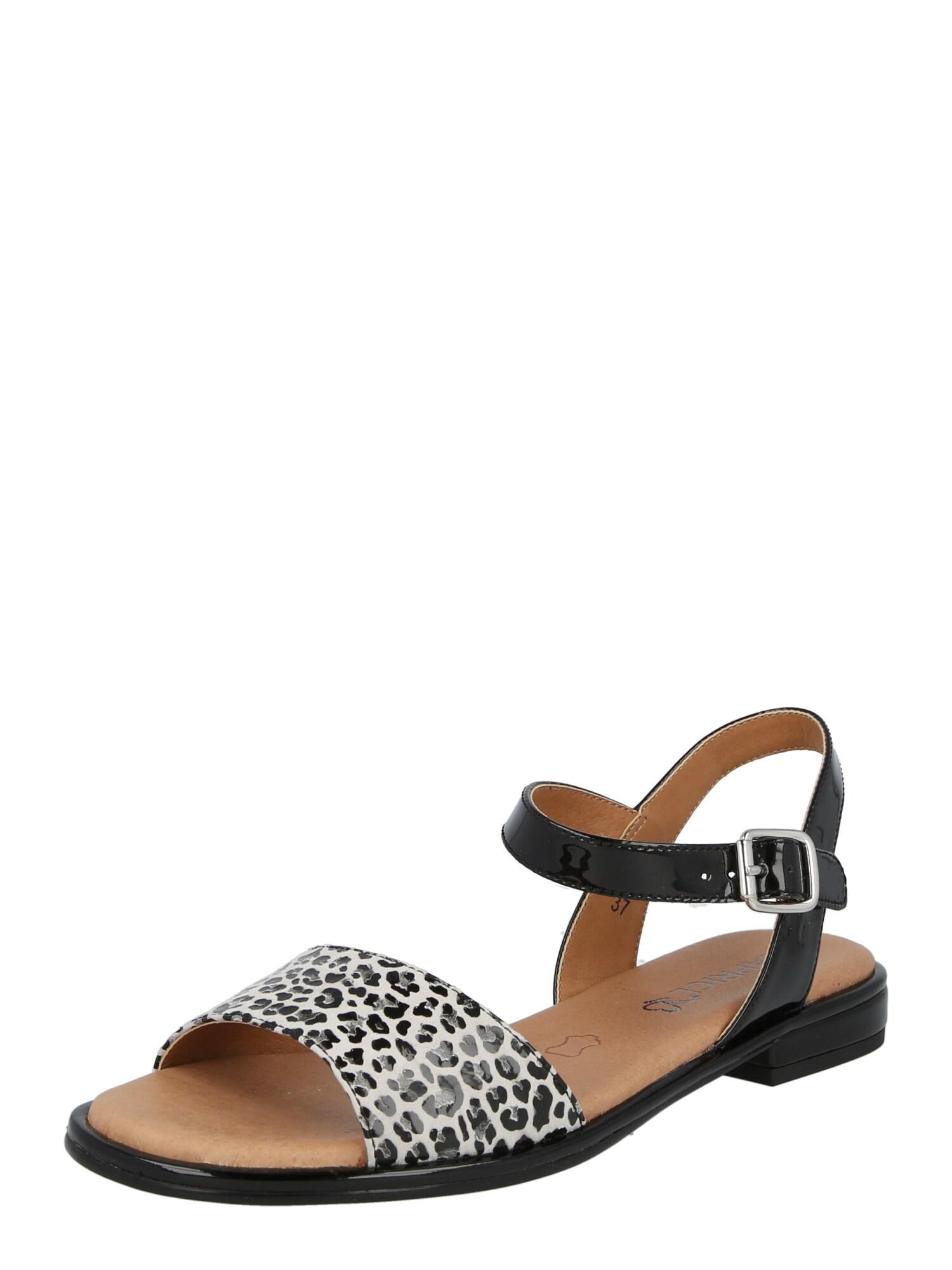 CAPRICE Sandalai balta / pilka / juoda