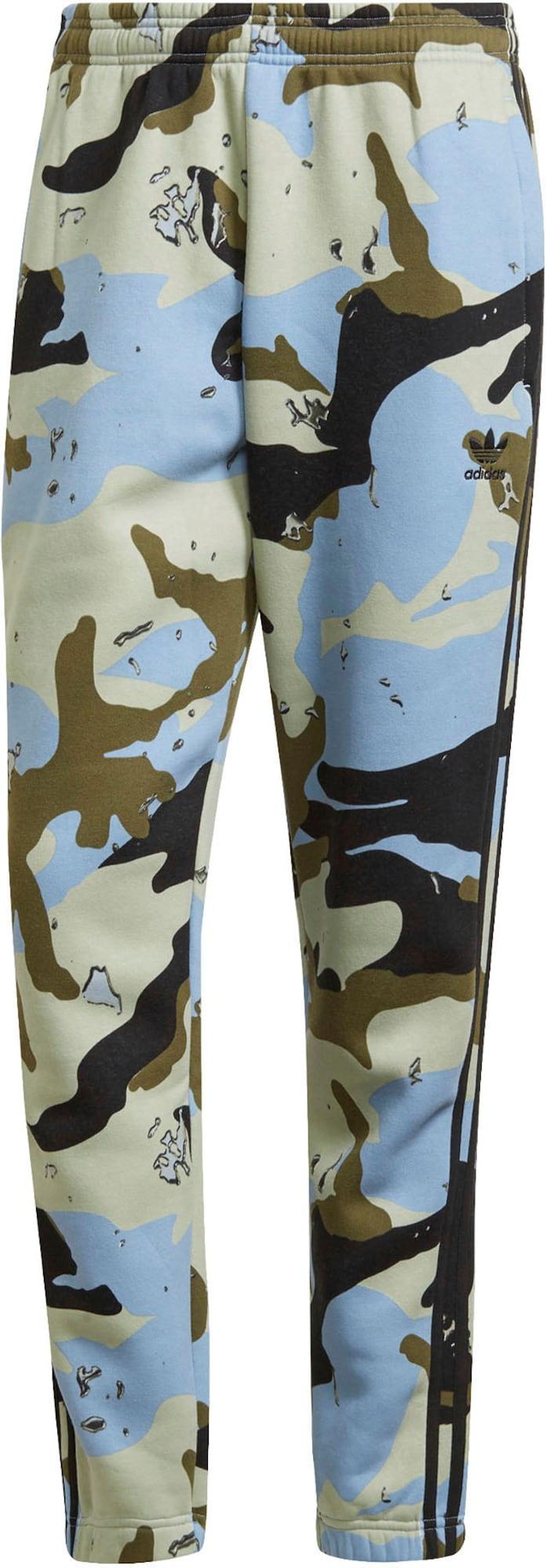 ADIDAS ORIGINALS Kalhoty  světlemodrá / černá / olivová / pastelově zelená