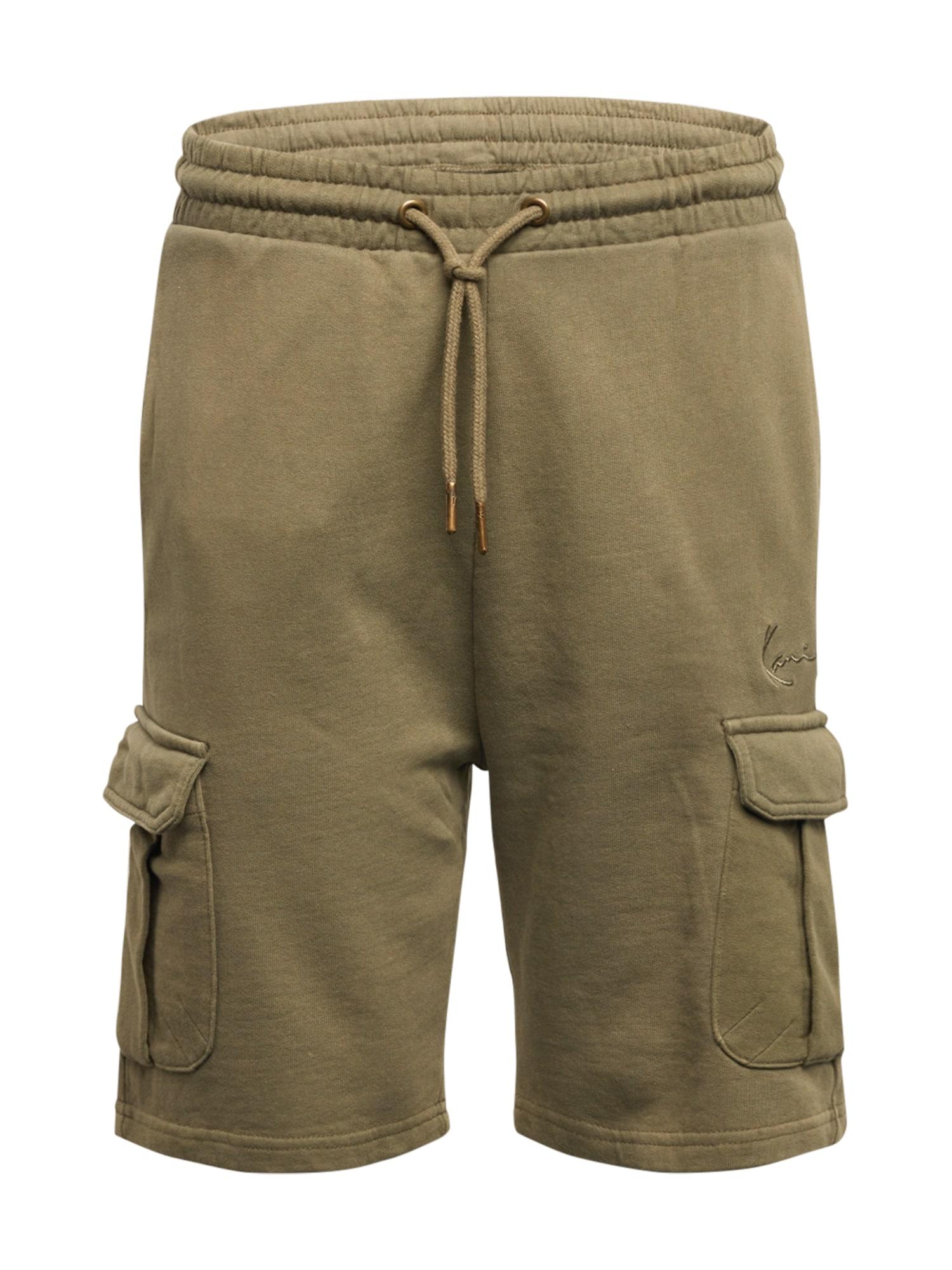 Karl Kani Laisvo stiliaus kelnės rusvai žalia