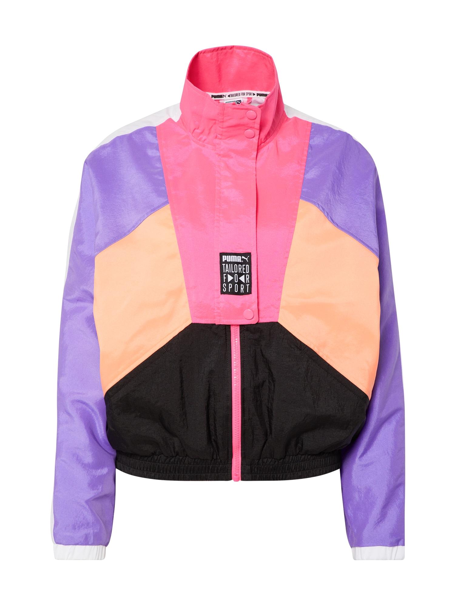 PUMA Demisezoninė striukė 'TFS OG Retro Track Jacket' purpurinė / rožinė
