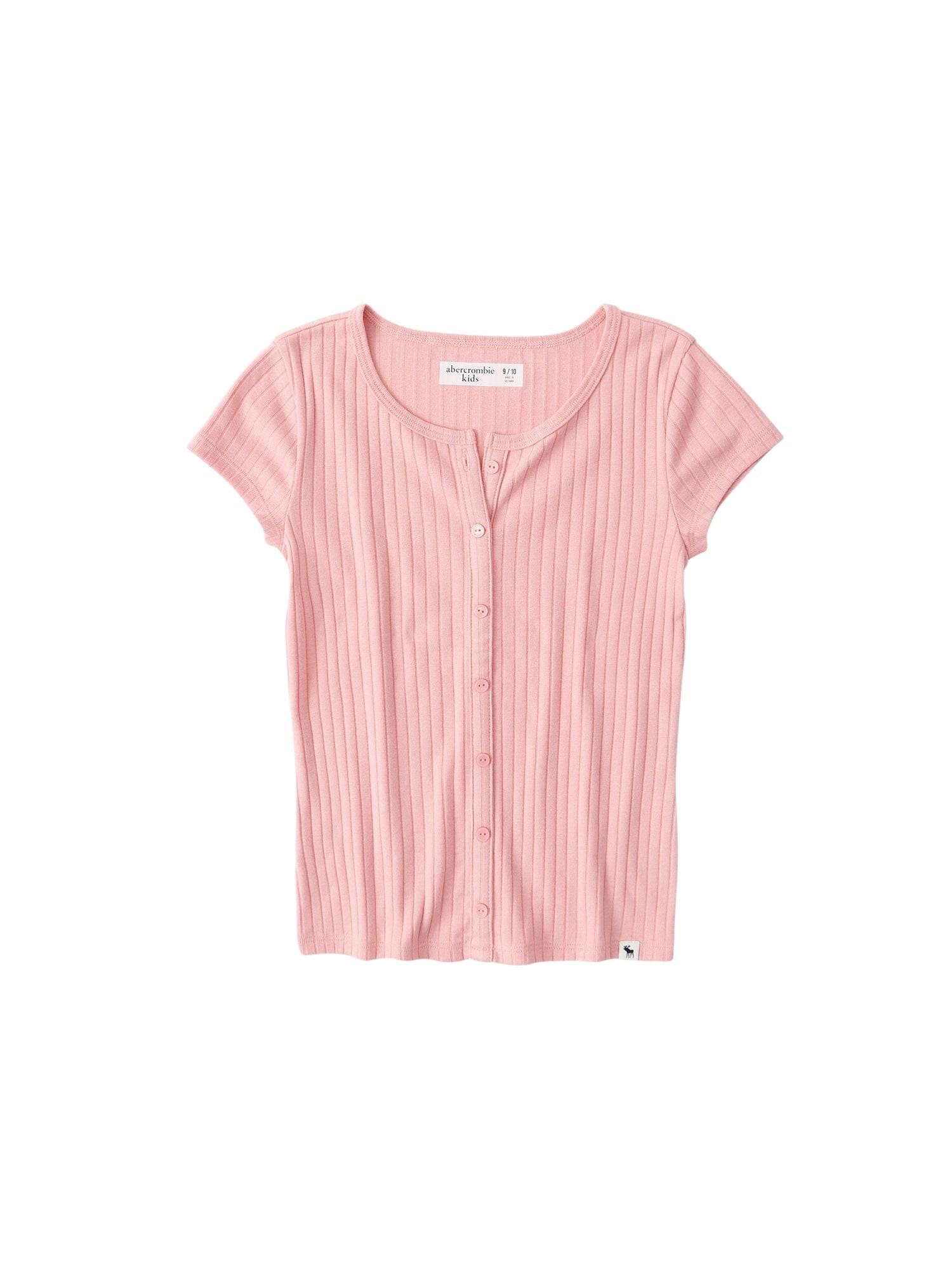 Abercrombie & Fitch Marškinėliai šviesiai rožinė