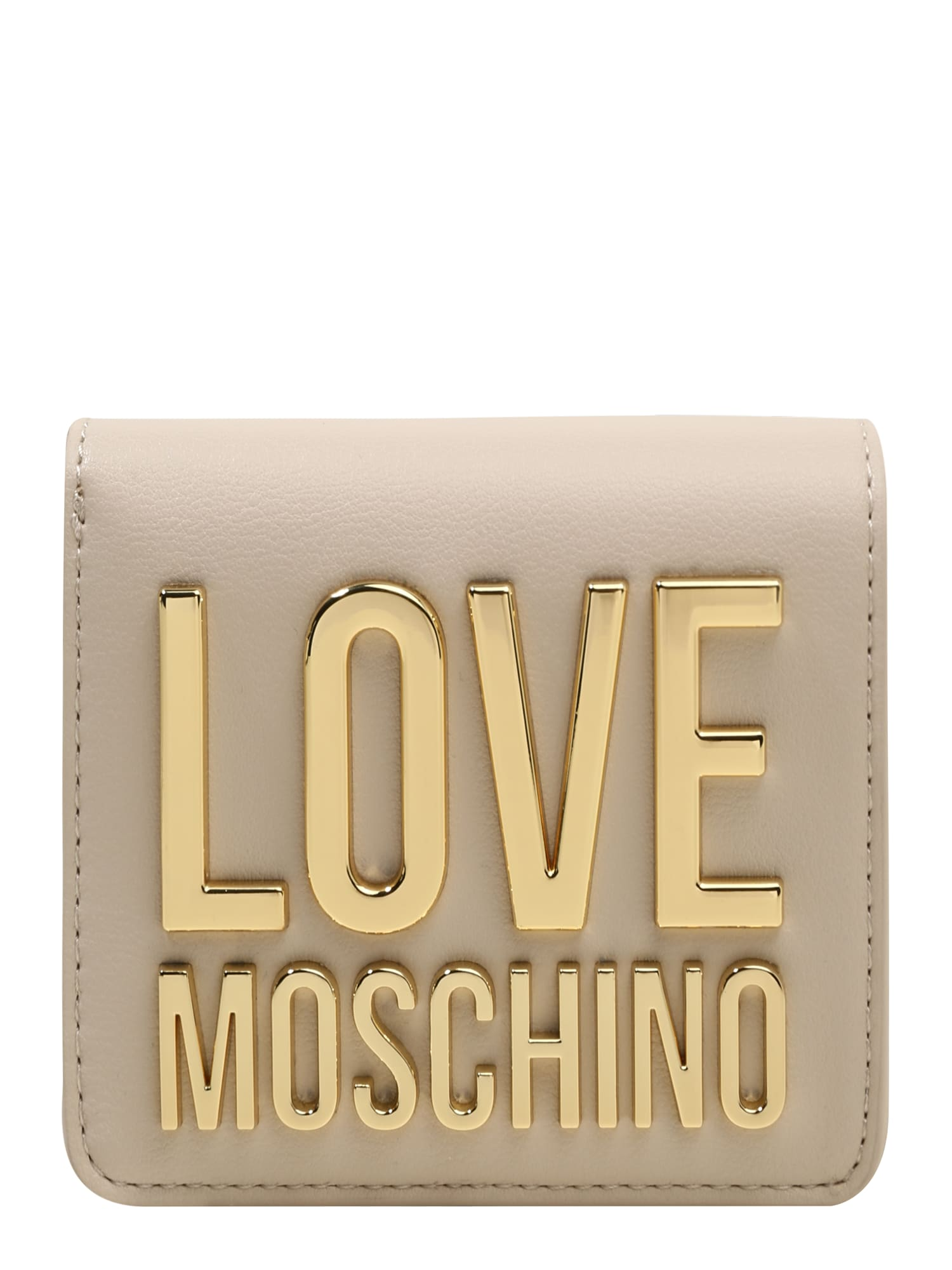 Love Moschino Piniginė tamsi smėlio / auksas