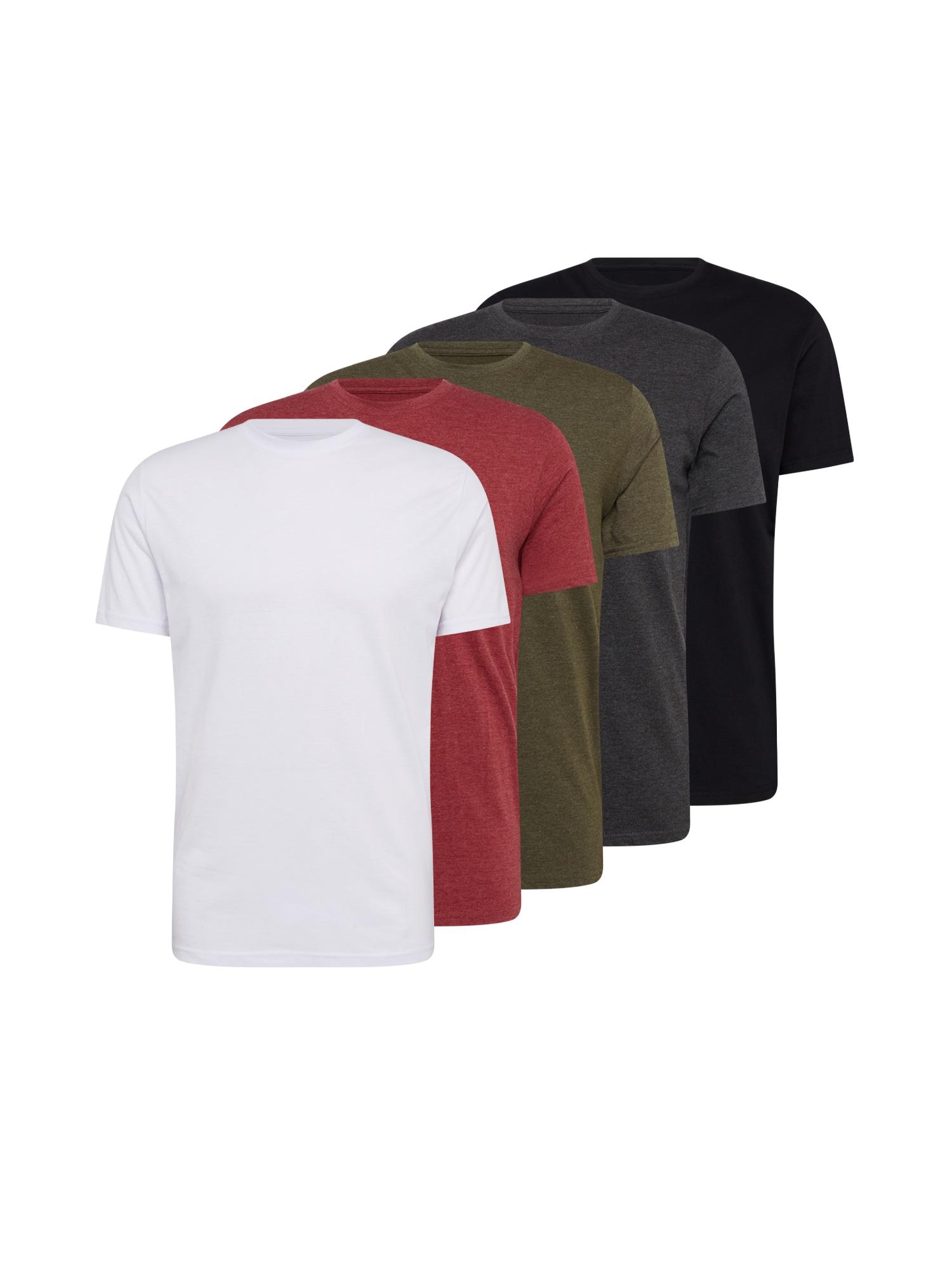 Denim Project Marškinėliai balta / margai raudona / margai žalia / tamsiai pilka / juoda