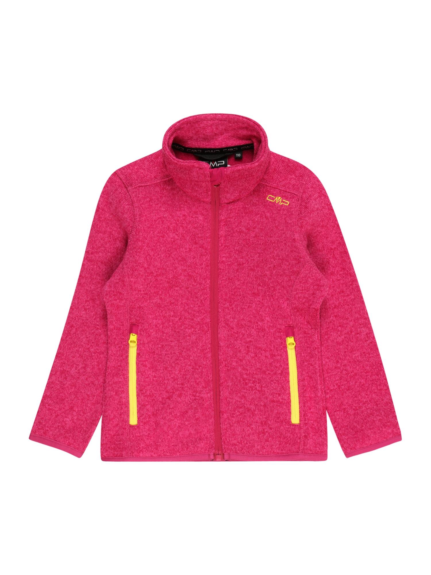 CMP Funkcinis flisinis džemperis rožinė / geltona