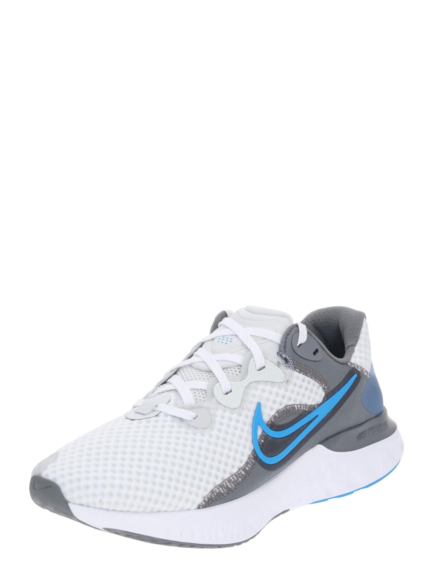 NIKE Běžecká obuv 'Renew Run 2'  šedá / bílá / aqua modrá