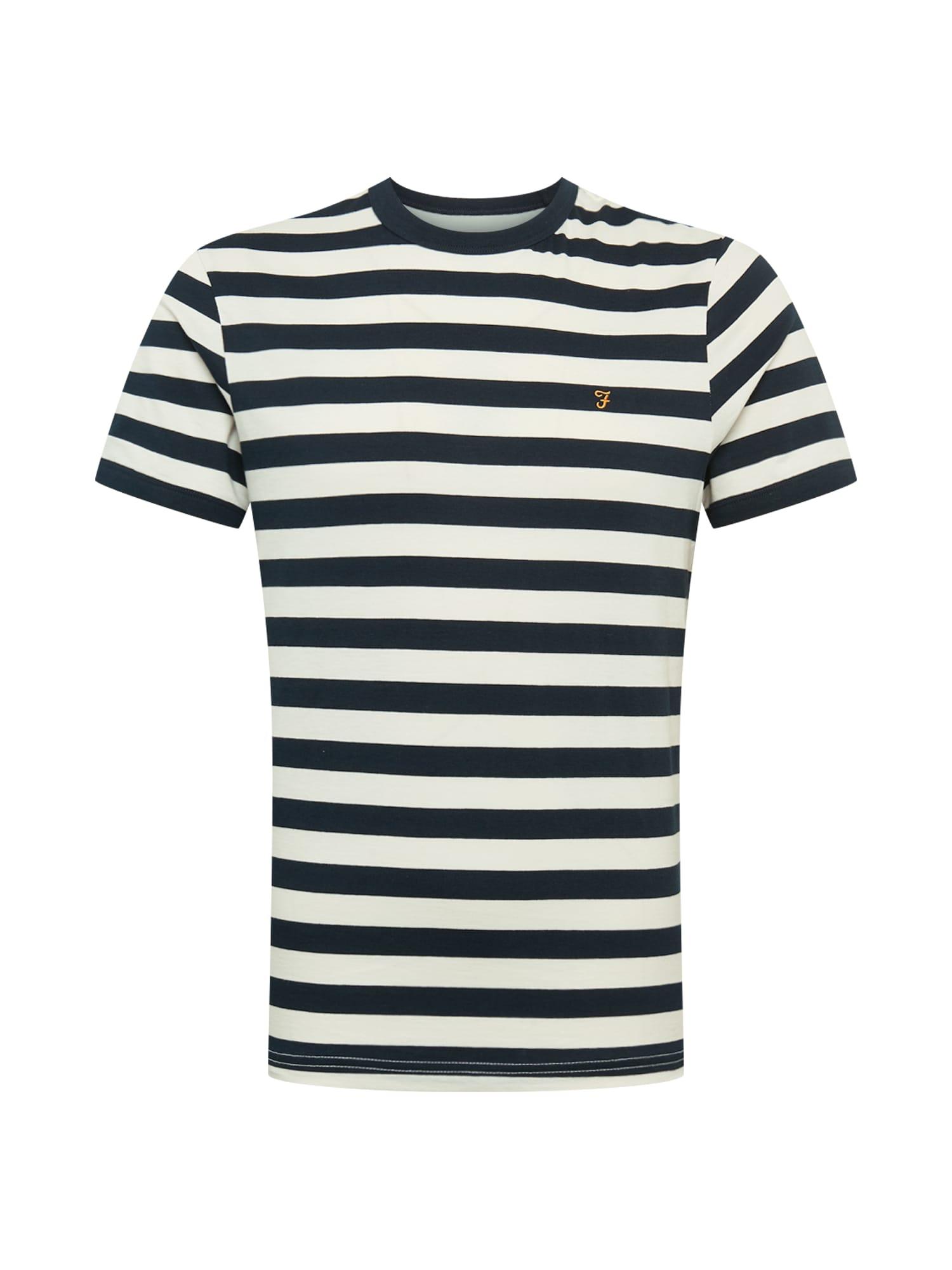 FARAH Marškinėliai balta / mėlyna