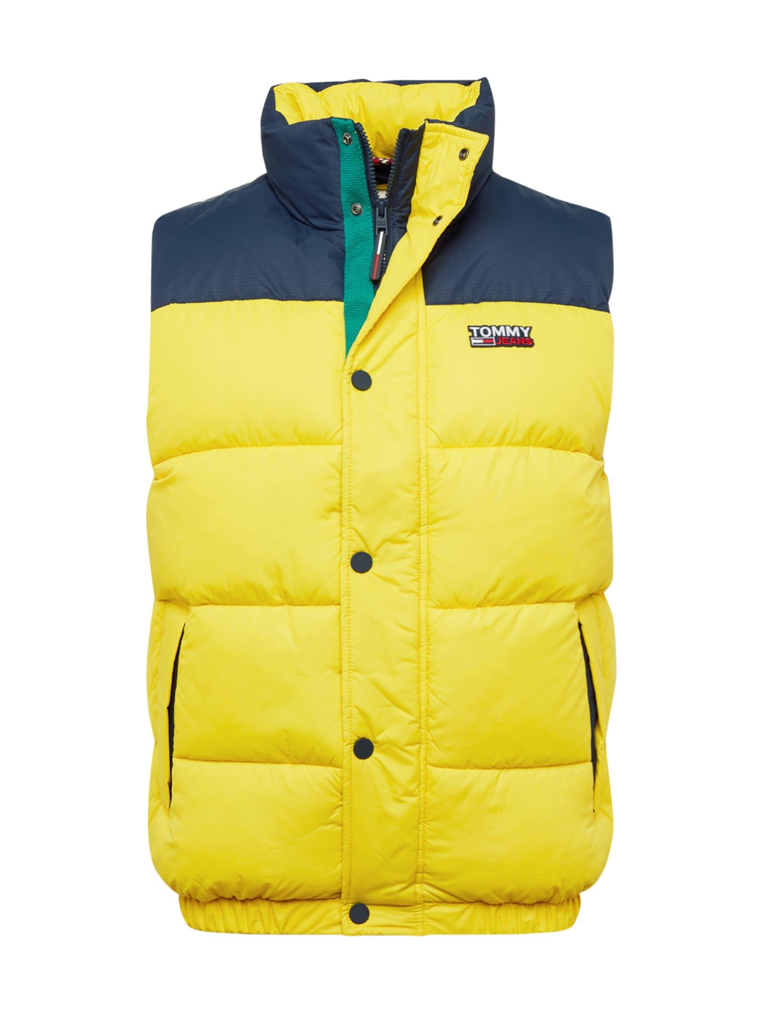 Tommy Jeans Vesta  námořnická modř / žlutá