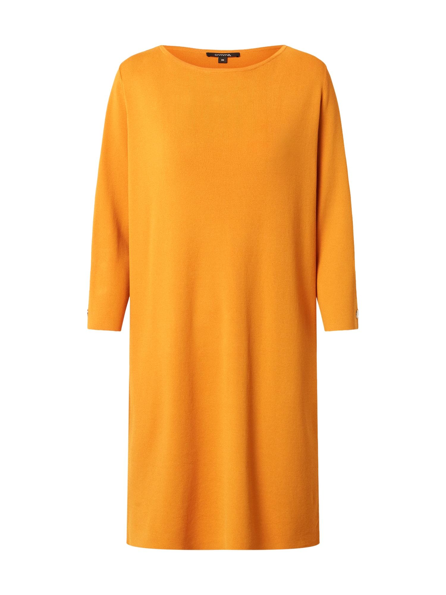 COMMA Megzta suknelė geltona