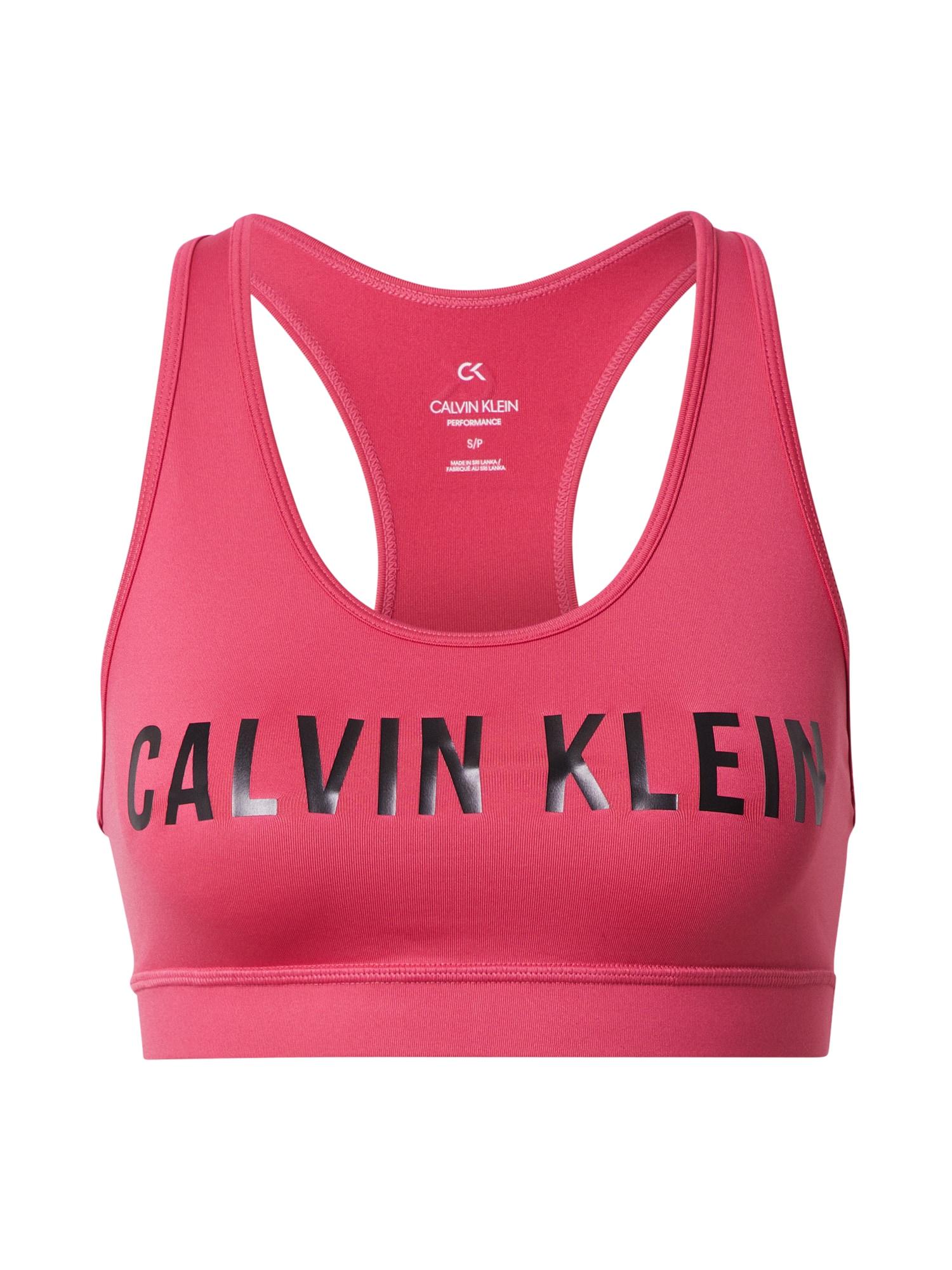 Calvin Klein Performance Sportinė liemenėlė rožinė / juoda