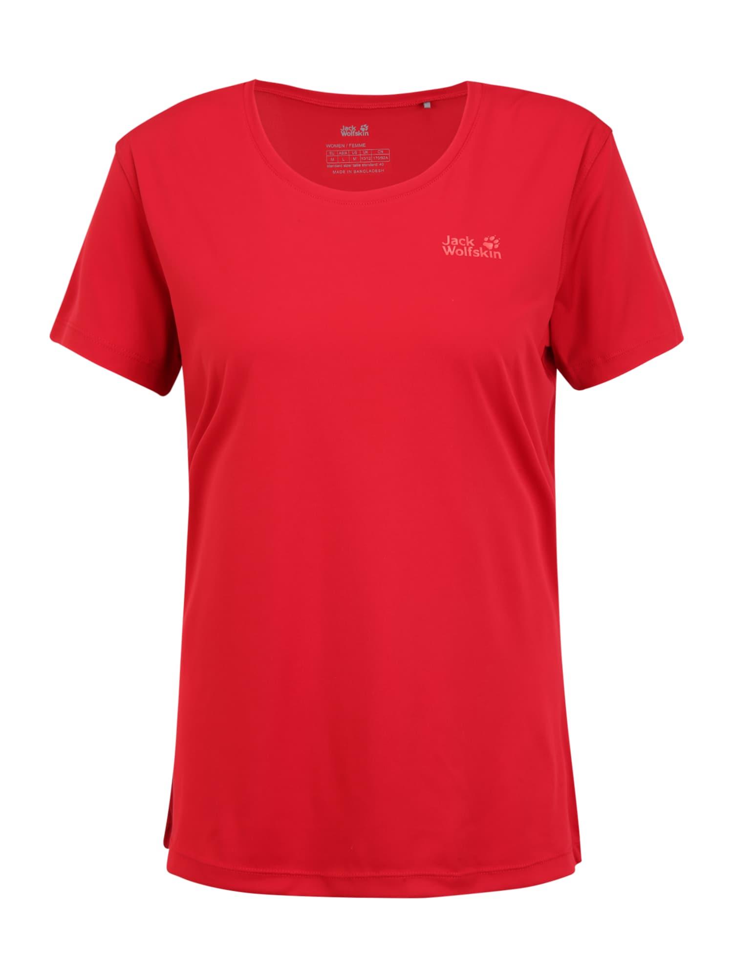 JACK WOLFSKIN Funkčné tričko  červená