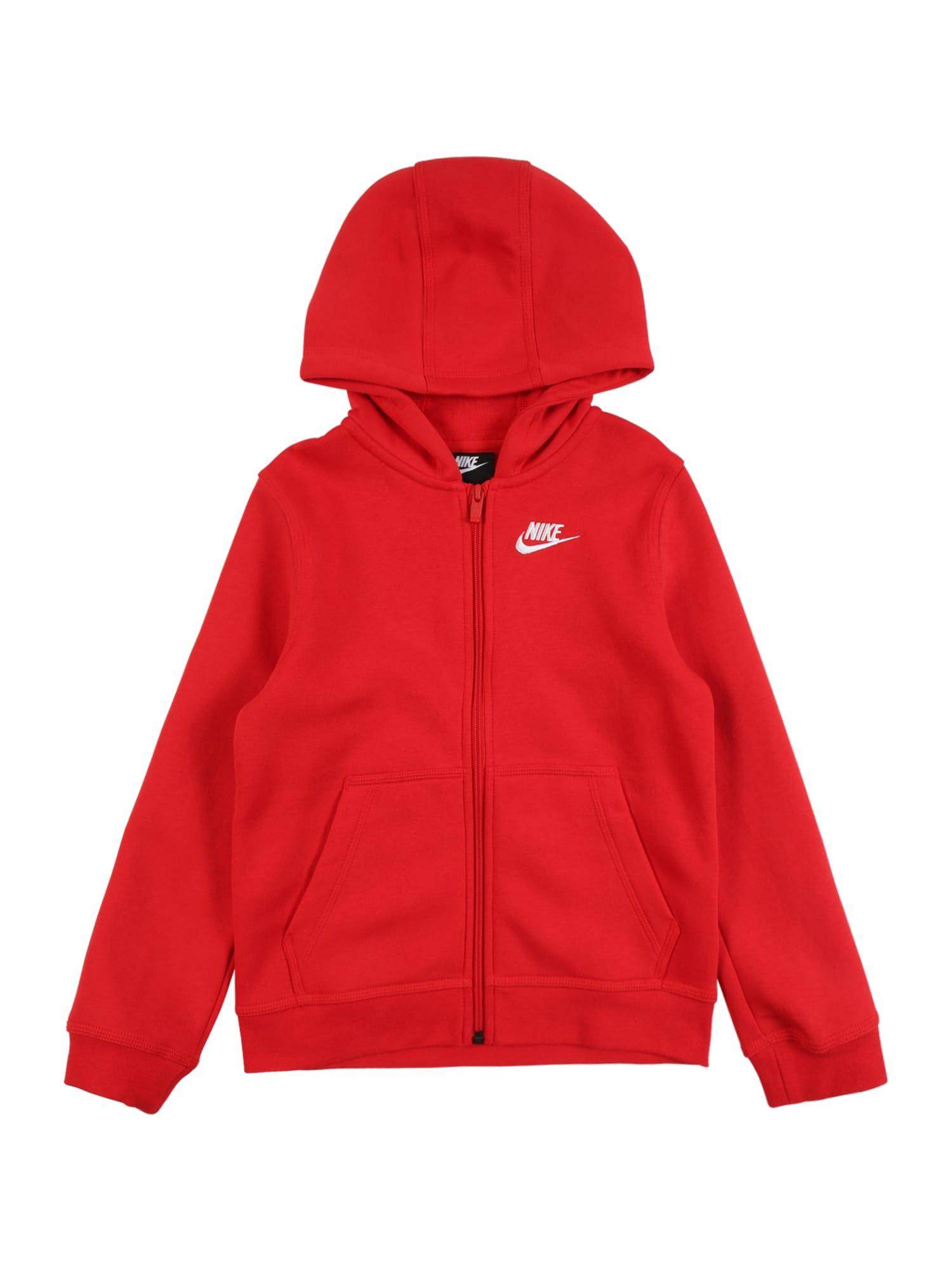 Nike Sportswear Džemperis balta / raudona