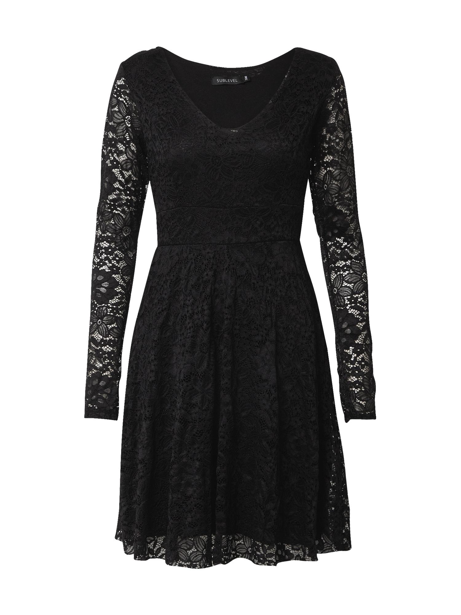 Sublevel Kokteilinė suknelė juoda