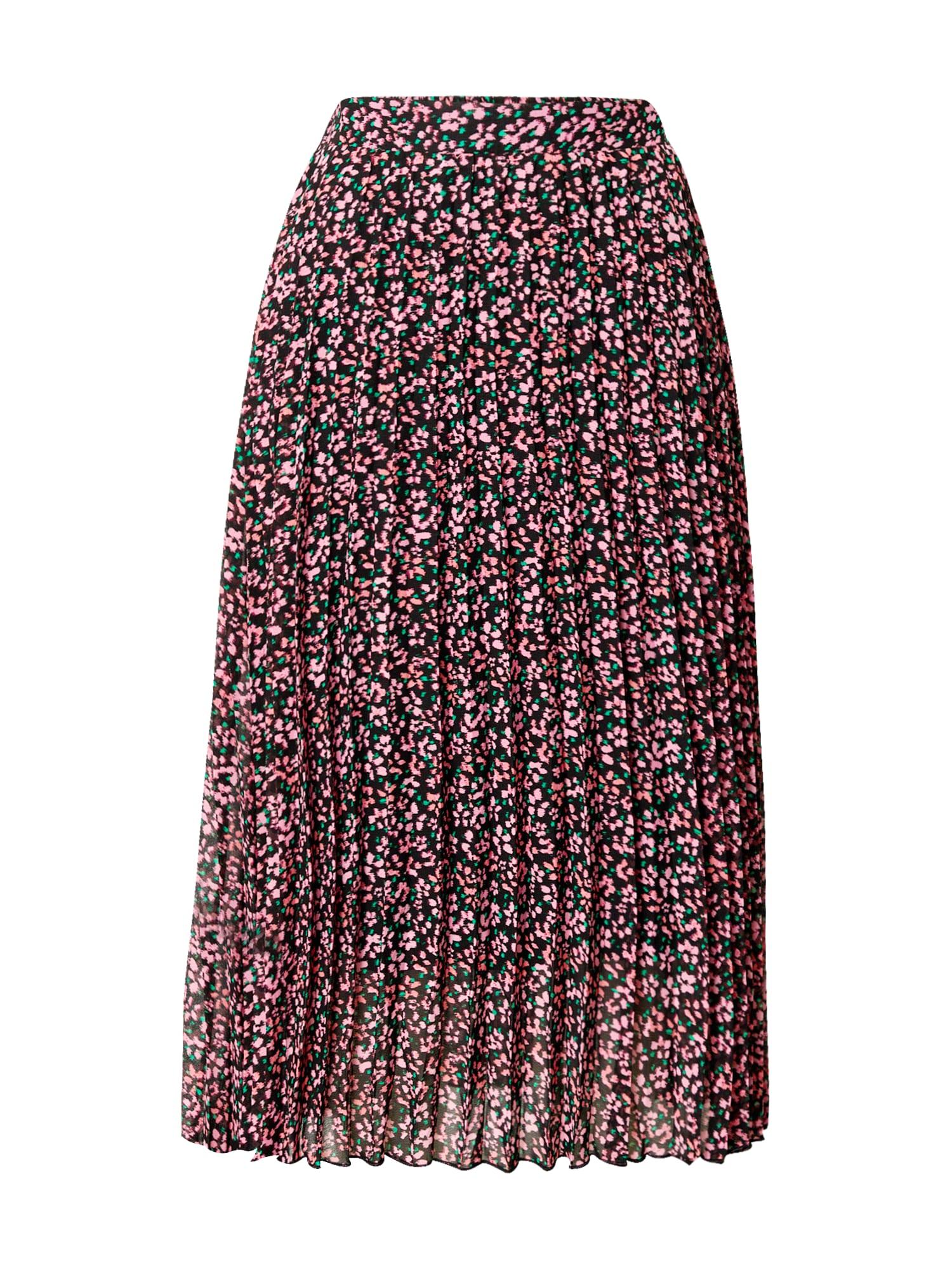 Dorothy Perkins Sijonas rožinė / juoda / žalia
