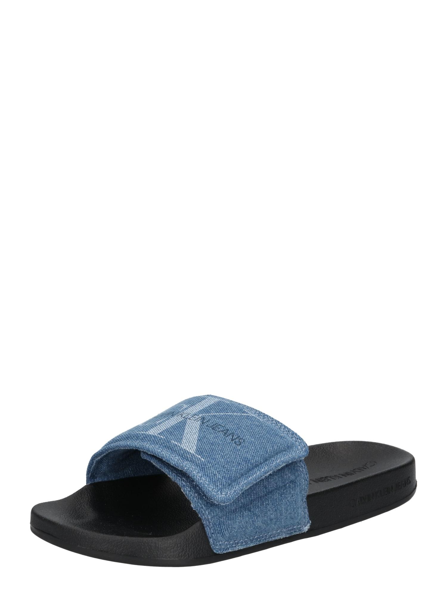 Calvin Klein Jeans Sandalai tamsiai (džinso) mėlyna / juoda