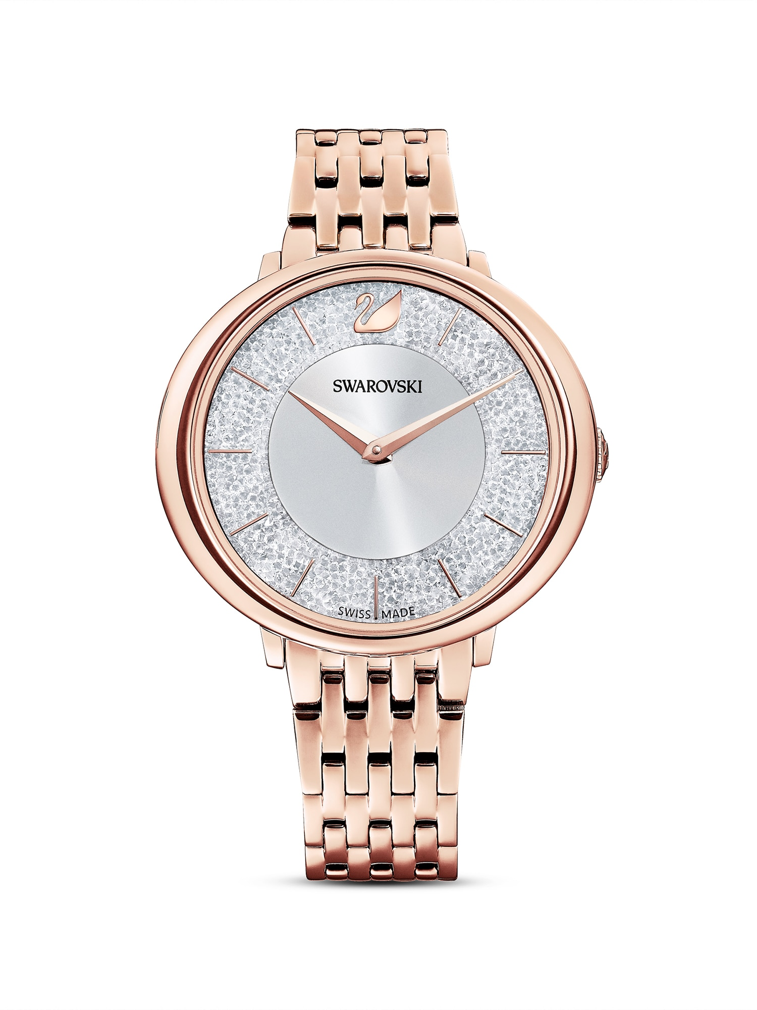 Swarovski Analoginis (įprasto dizaino) laikrodis sidabrinė / rožinio aukso spalva