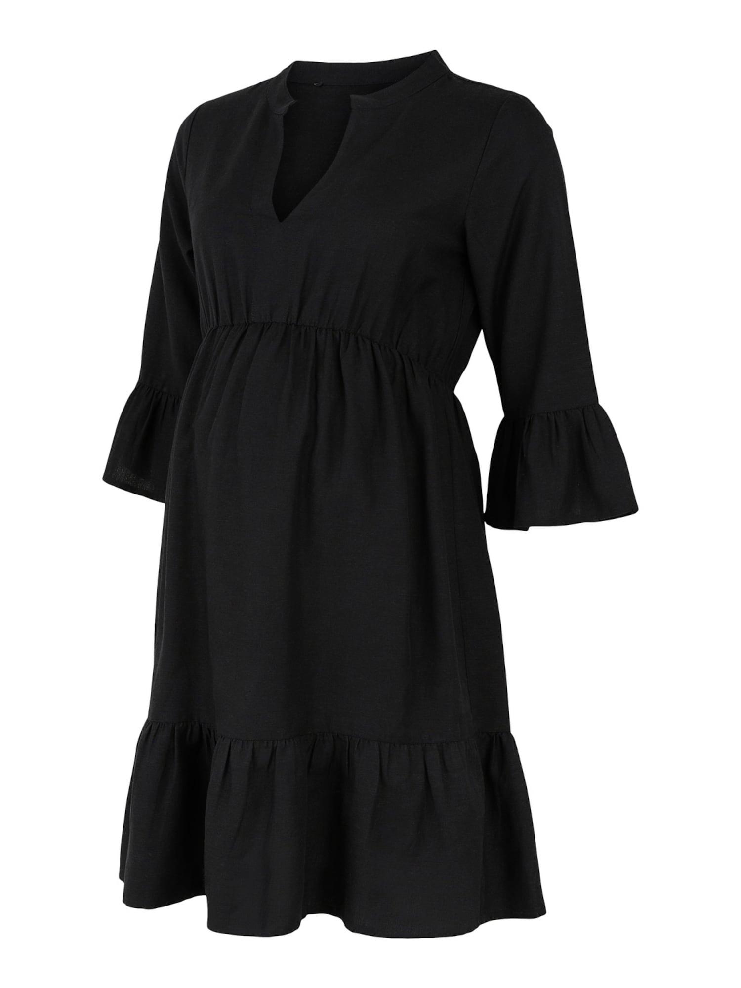 MAMALICIOUS Palaidinės tipo suknelė 'Lichia' juoda