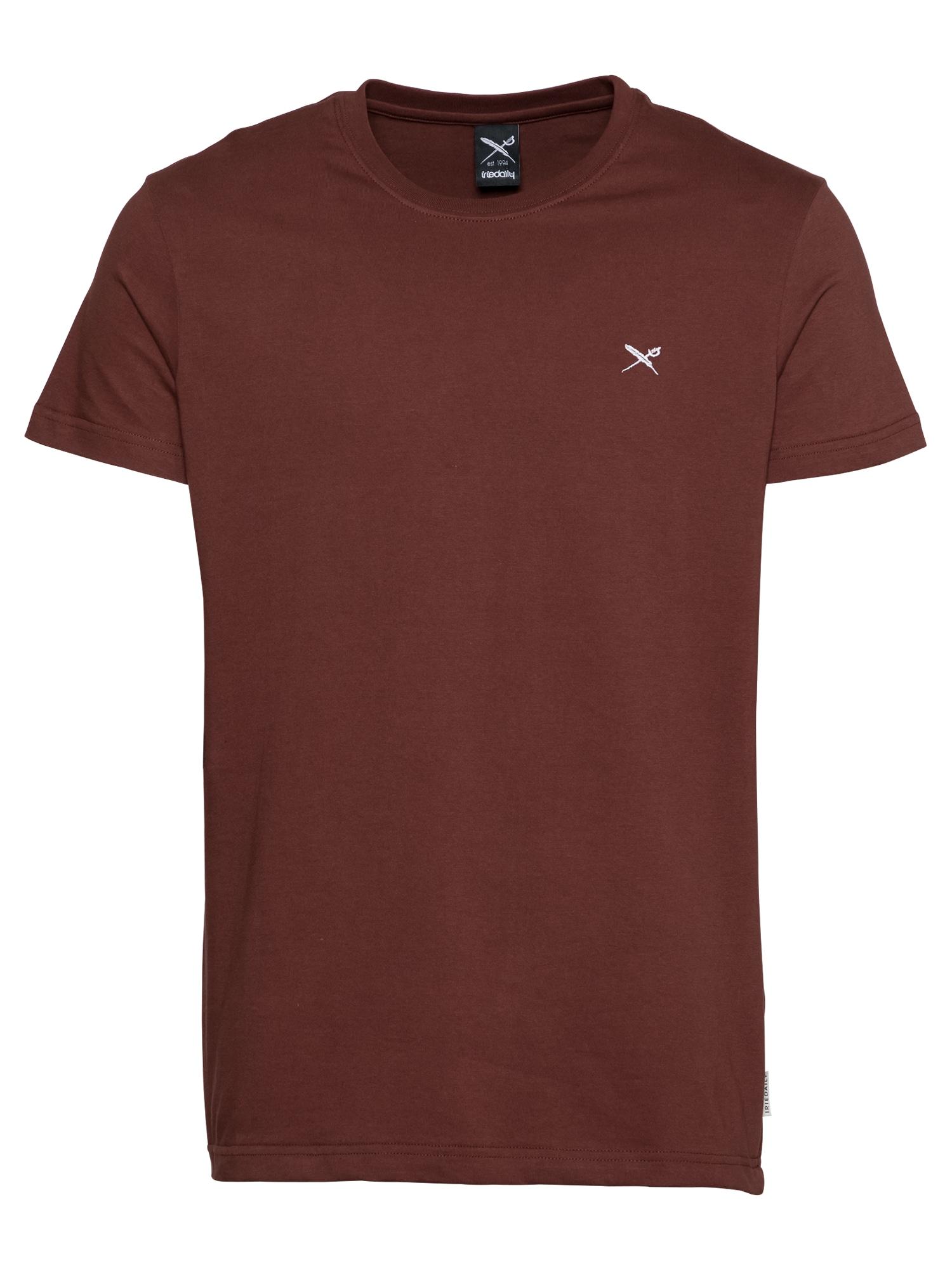 Iriedaily Marškinėliai burgundiško vyno spalva