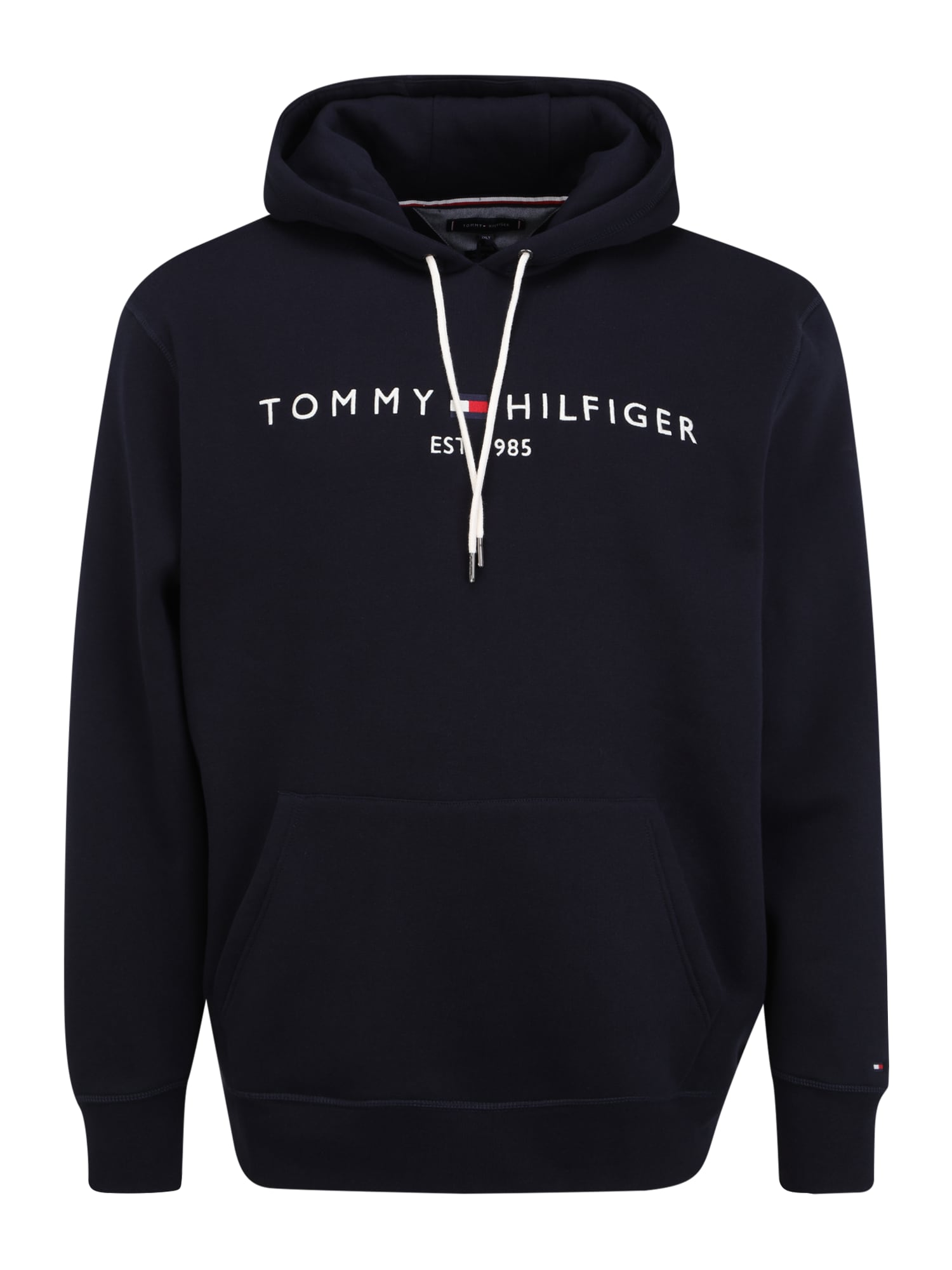 Tommy Hilfiger Big & Tall Megztinis be užsegimo tamsiai mėlyna / balta