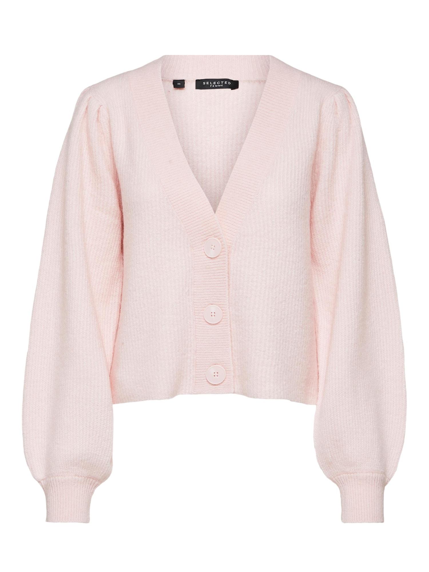 SELECTED FEMME Kardiganas ryškiai rožinė spalva