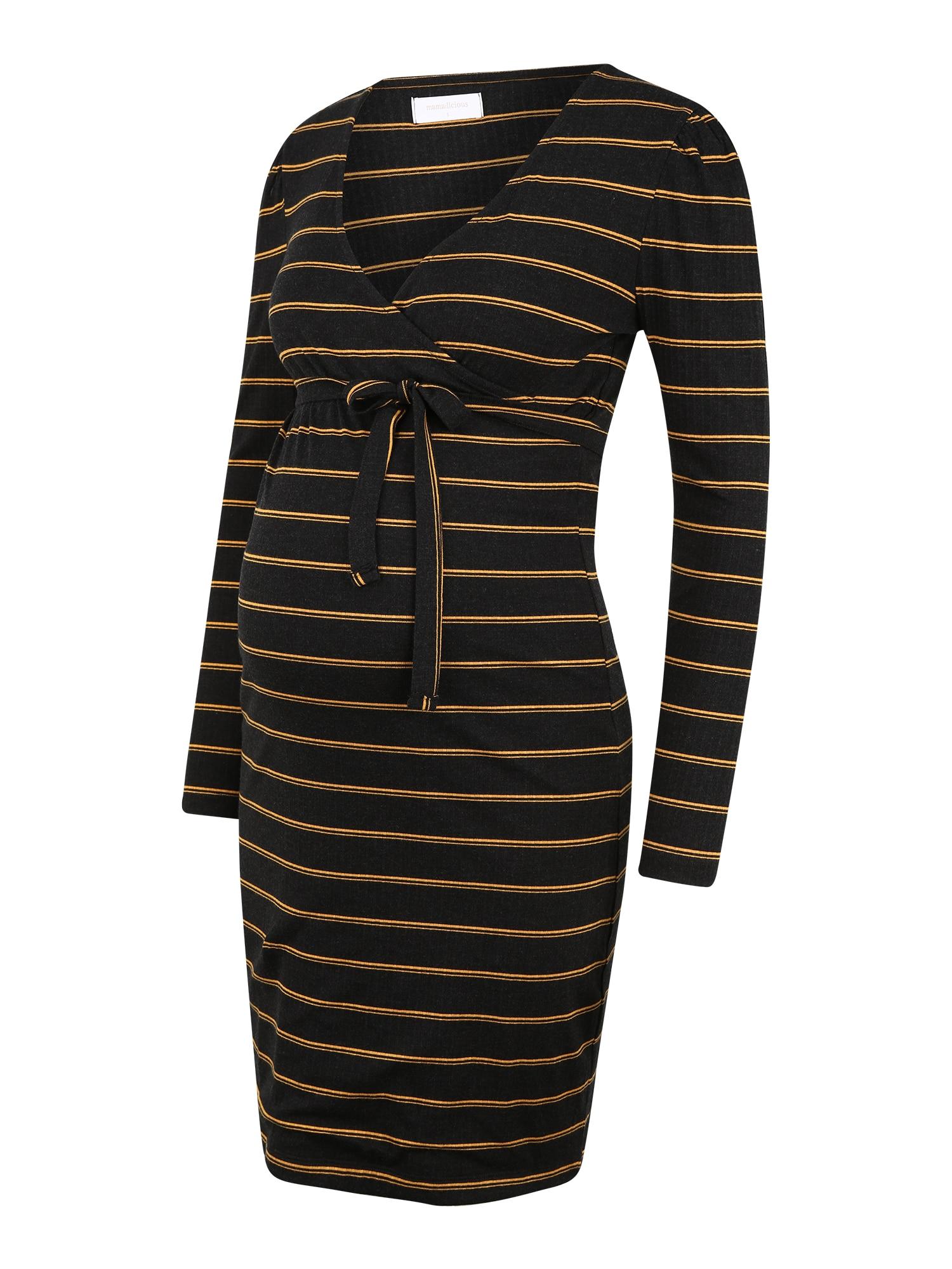 MAMALICIOUS Suknelė juoda / auksas