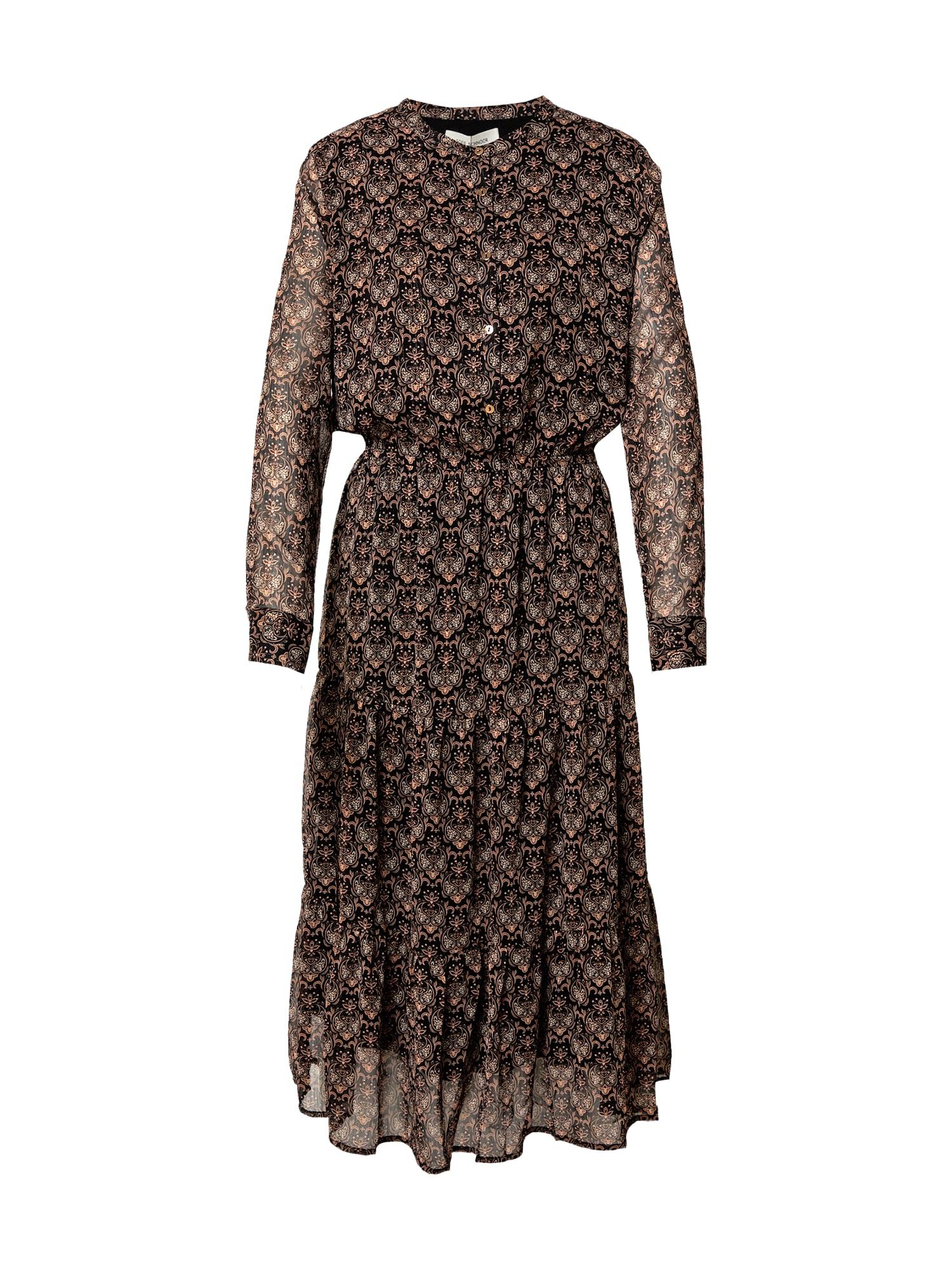 Sofie Schnoor Palaidinės tipo suknelė juoda / rusva