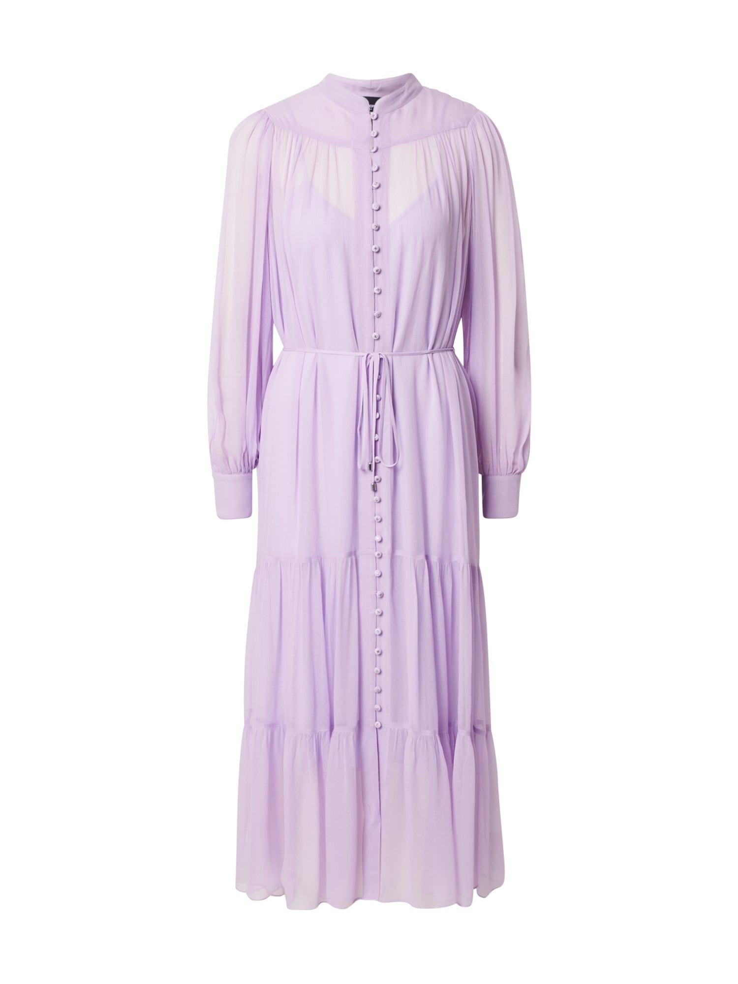 The Kooples Palaidinės tipo suknelė rausvai violetinė spalva