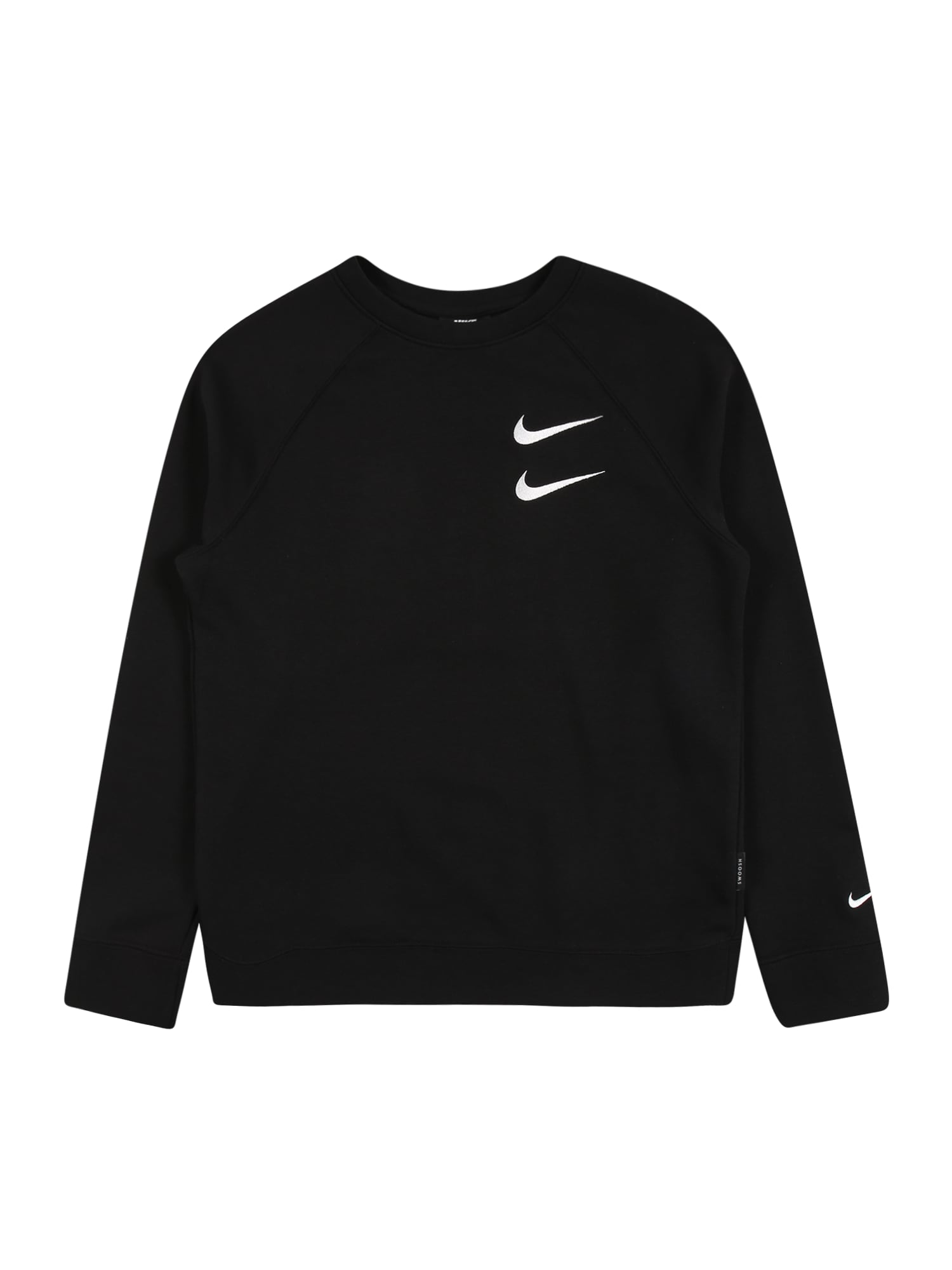 Nike Sportswear Mikina  černá / bílá / tmavě červená