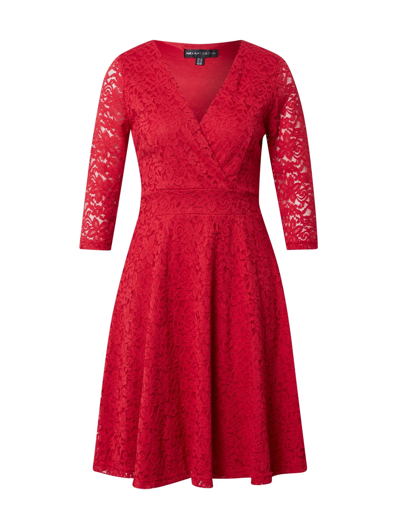Mela London Kokteilinė suknelė raudona