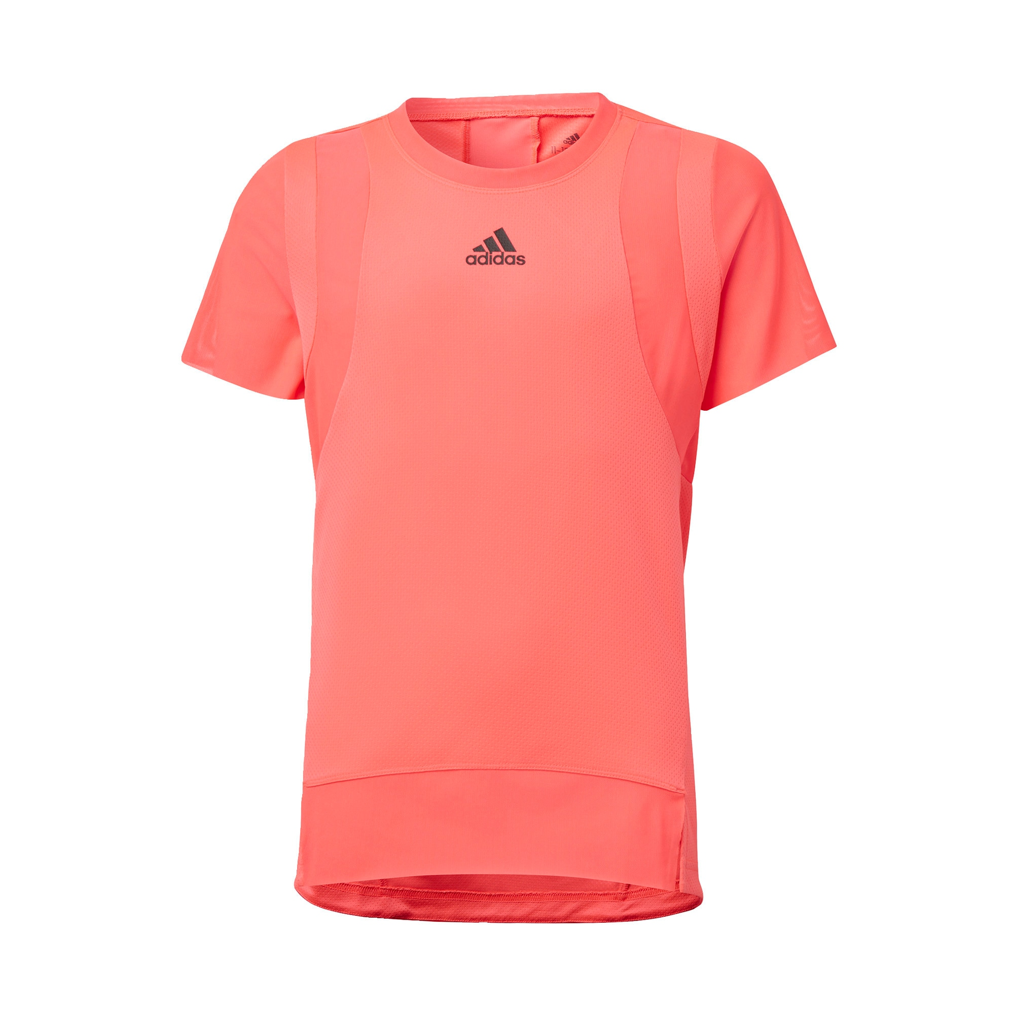 ADIDAS PERFORMANCE Sportiniai marškinėliai koralų splava / juoda