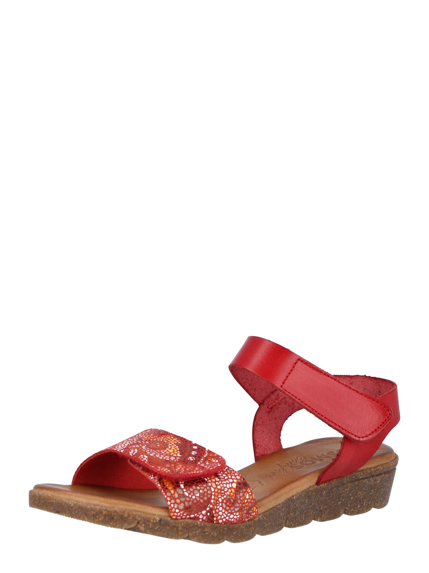 COSMOS COMFORT Sandalai raudona / mišrios spalvos
