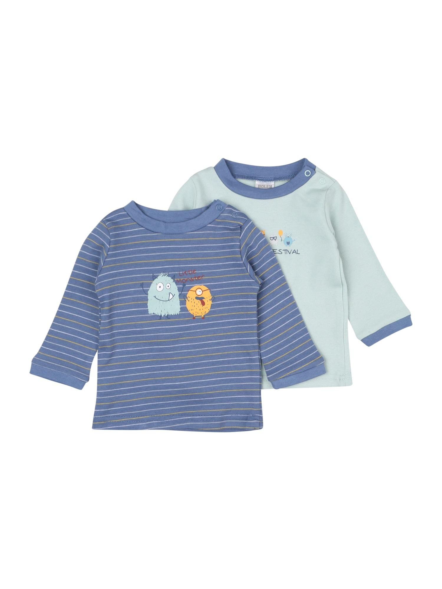 JACKY Marškinėliai melsvai pilka / šviesiai mėlyna