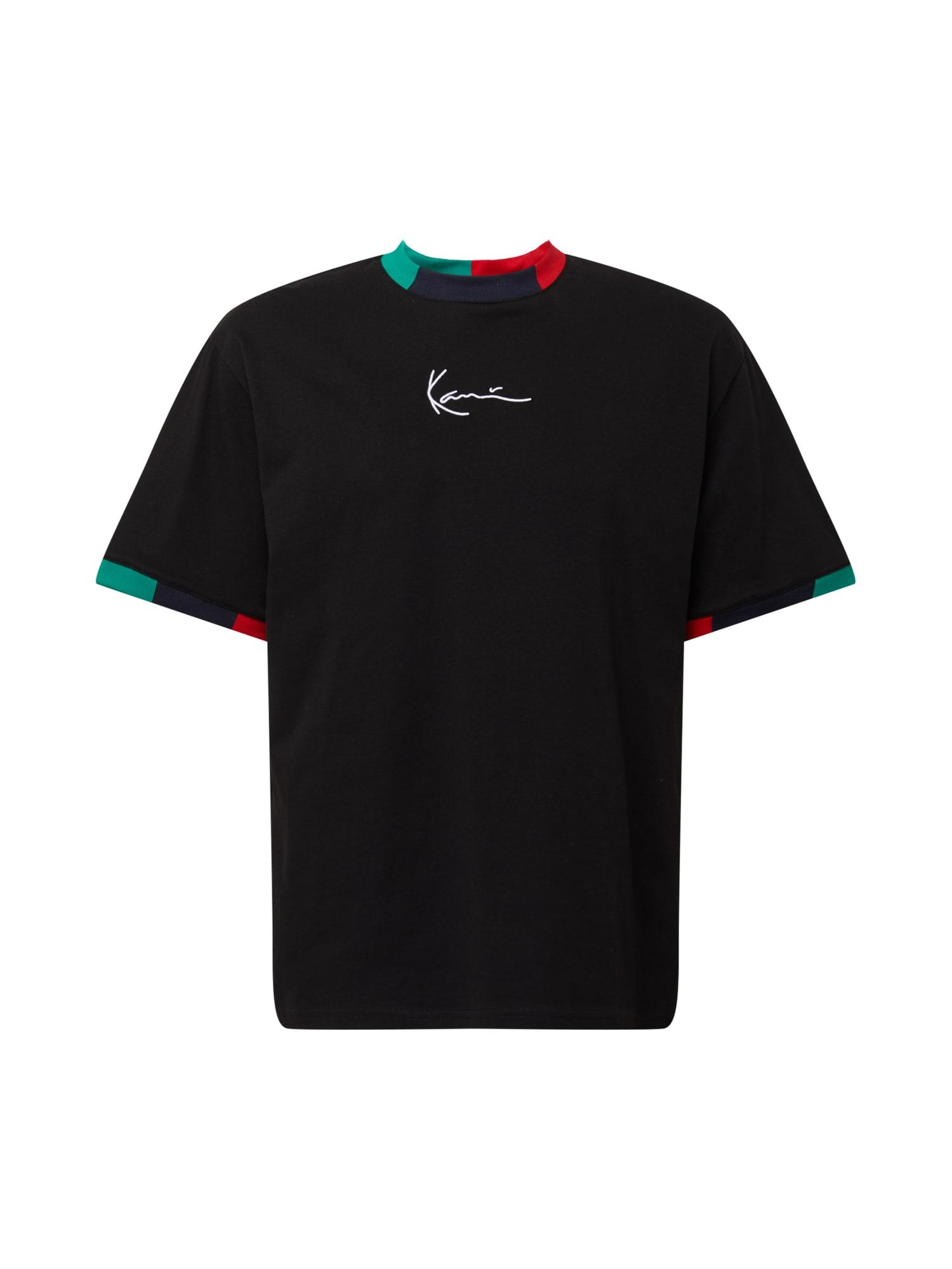 Karl Kani Marškinėliai juoda / nefrito spalva / nakties mėlyna / raudona / balta