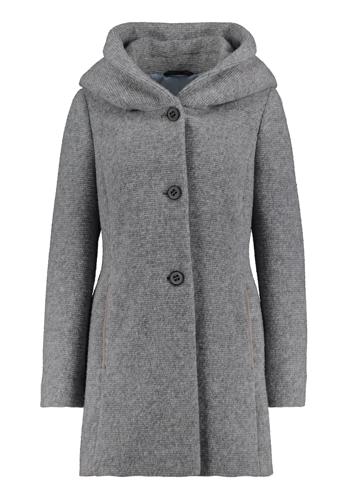Amber & June Žieminis paltas pilka