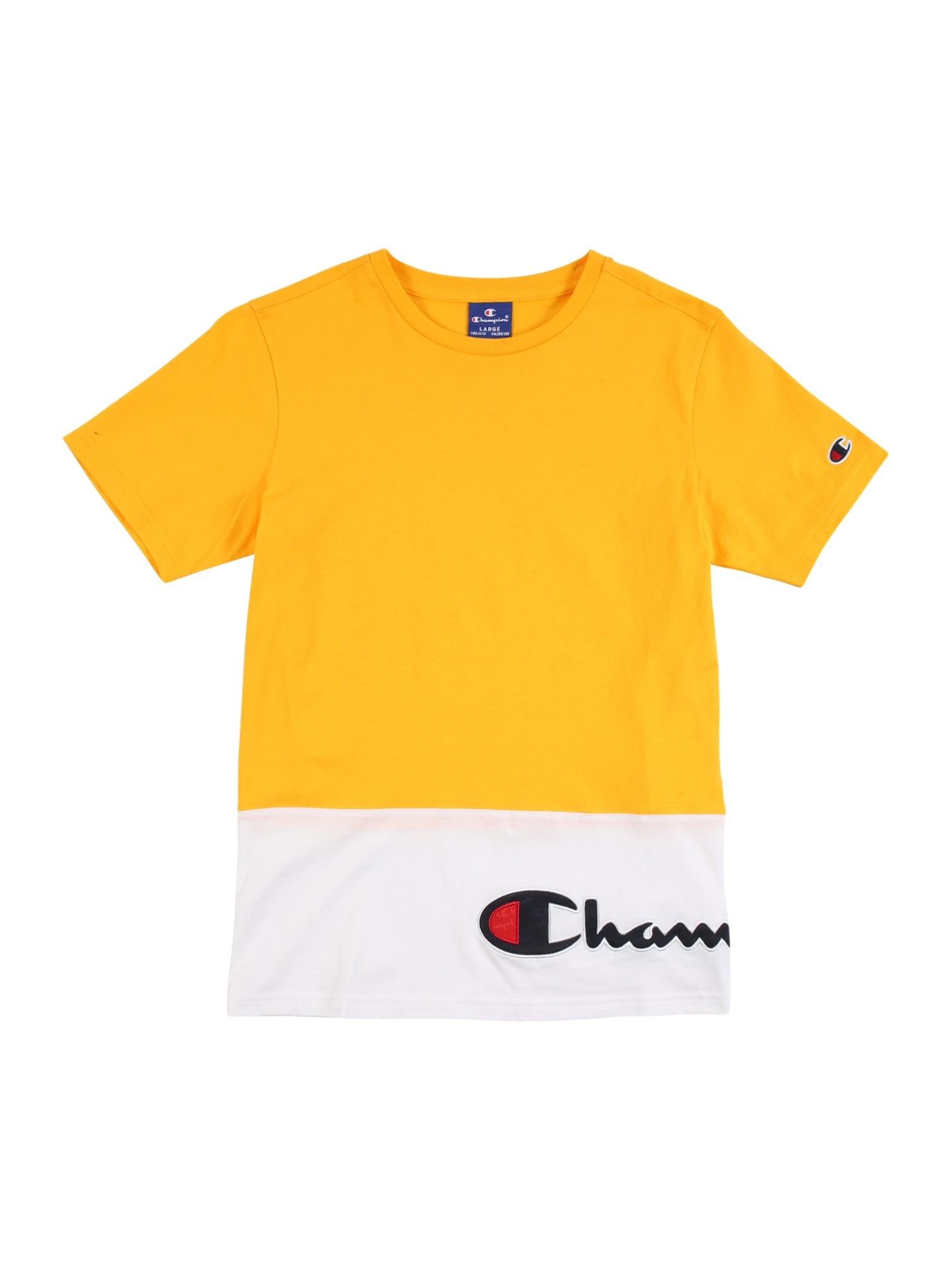 Champion Authentic Athletic Apparel Marškinėliai geltona / balta / tamsiai mėlyna / raudona