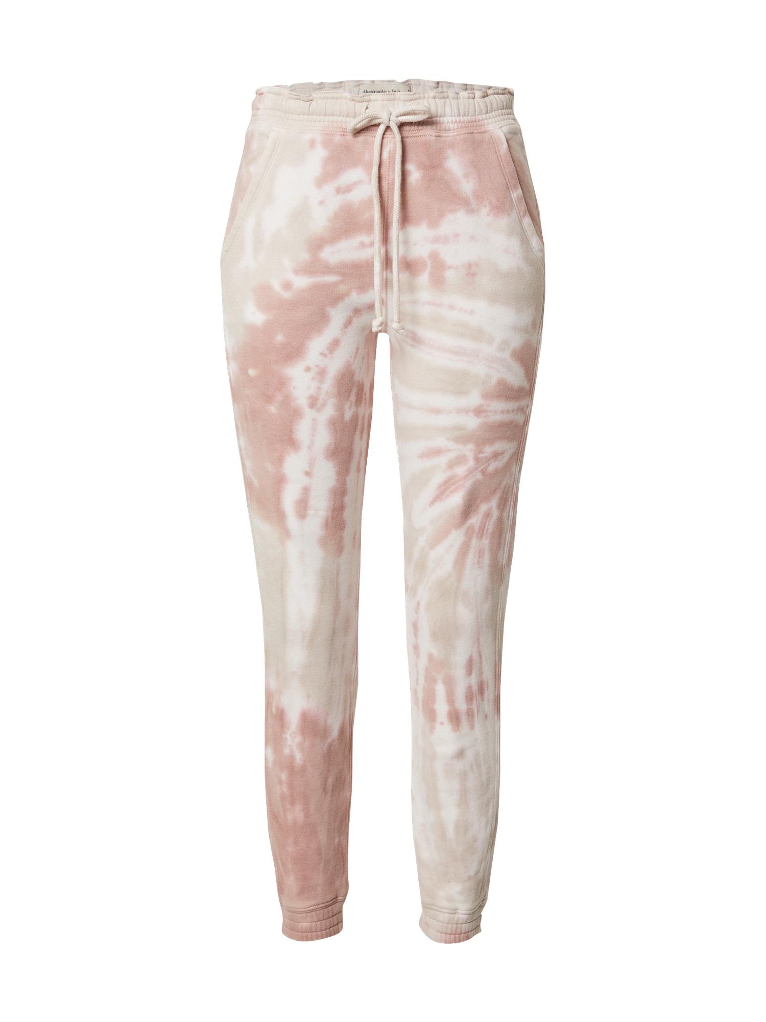 Abercrombie & Fitch Kelnės šviesiai ruda / balta