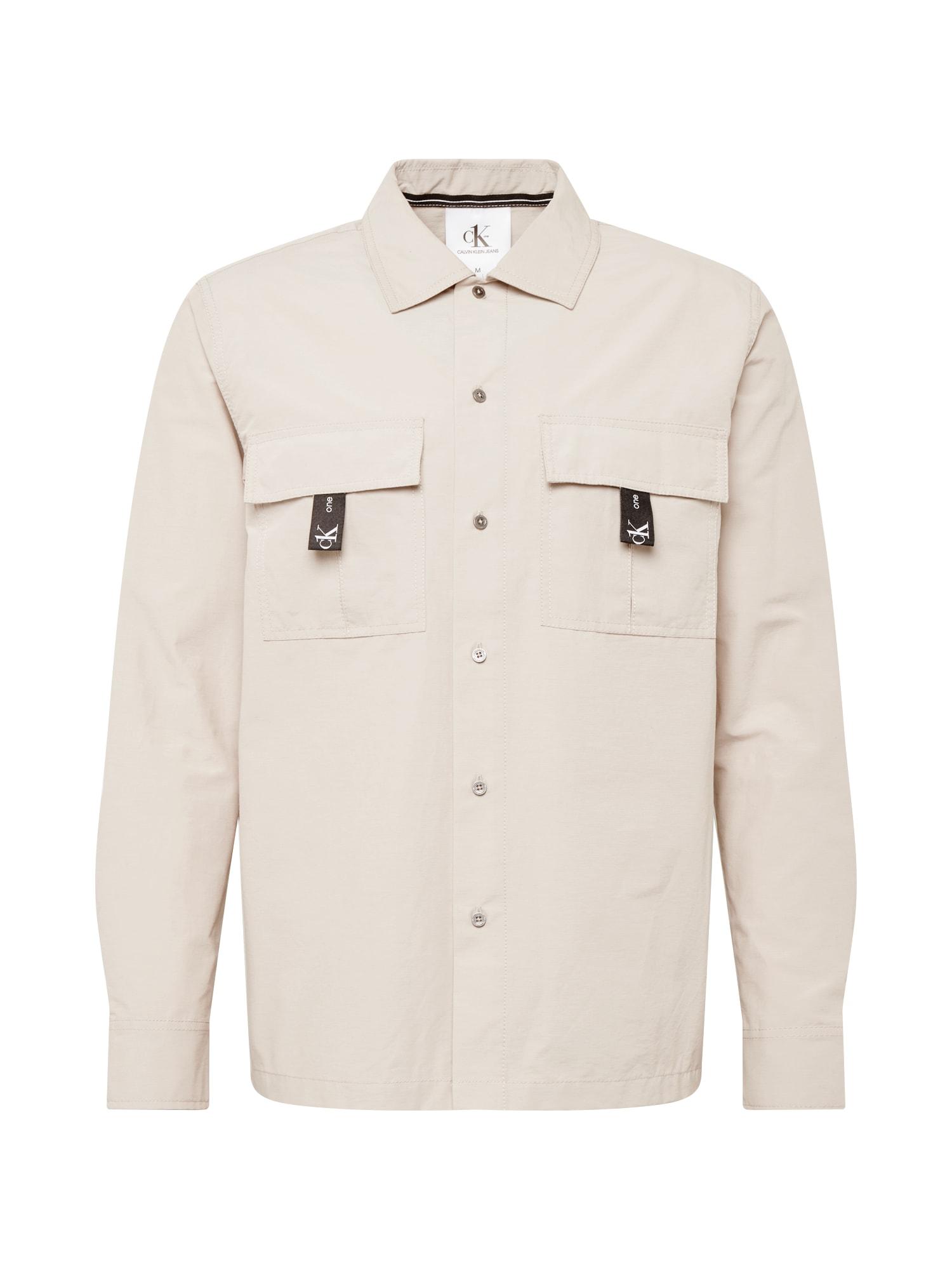 Calvin Klein Jeans Košile  šedá / černá / zelená