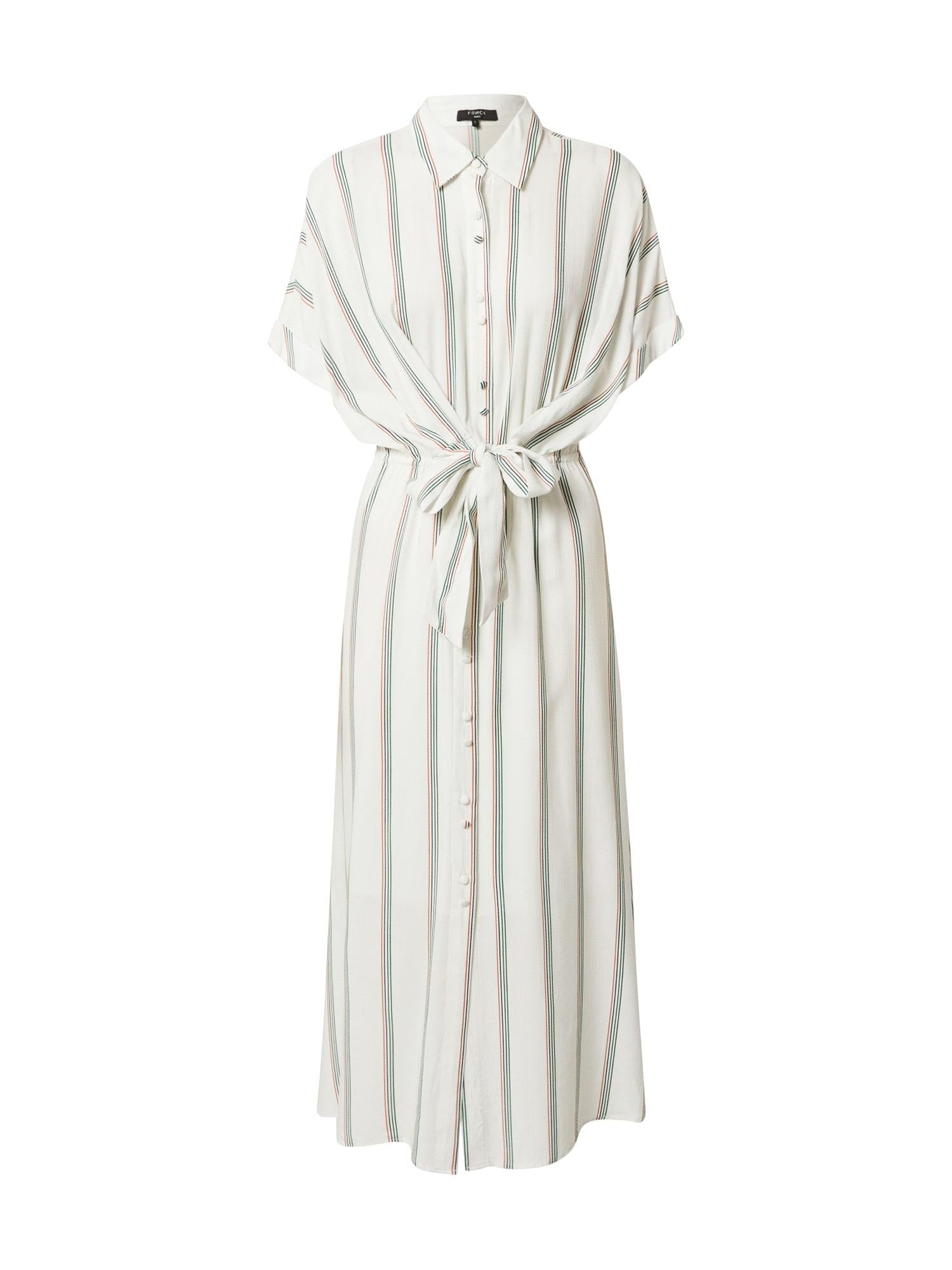 FRNCH PARIS Palaidinės tipo suknelė balta / žalia / mėlyna / koralų splava