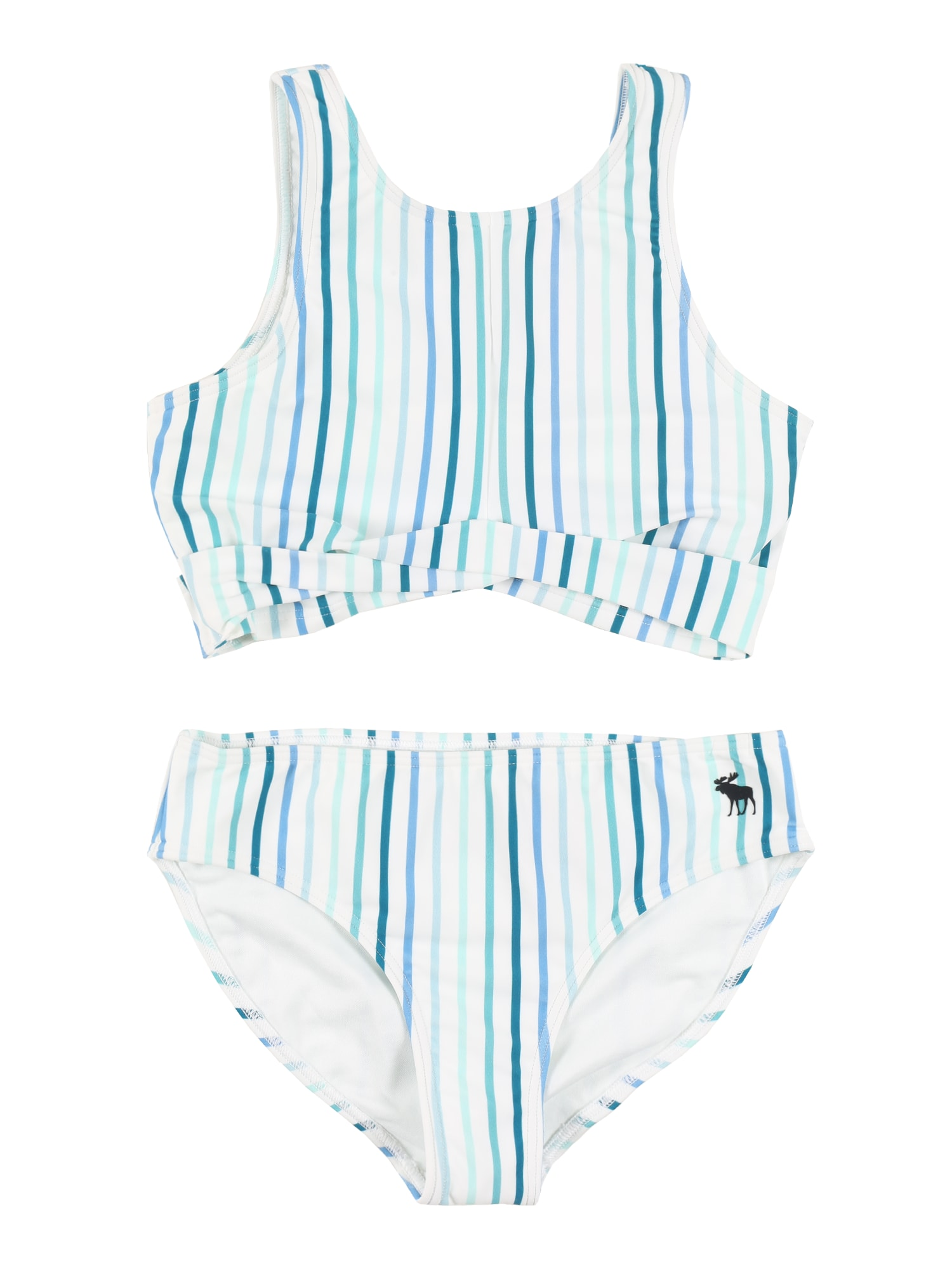 "Abercrombie & Fitch Maudymosi kostiumėlis balta / nefrito spalva / azuro / benzino spalva / sodri mėlyna (""karališka"")"