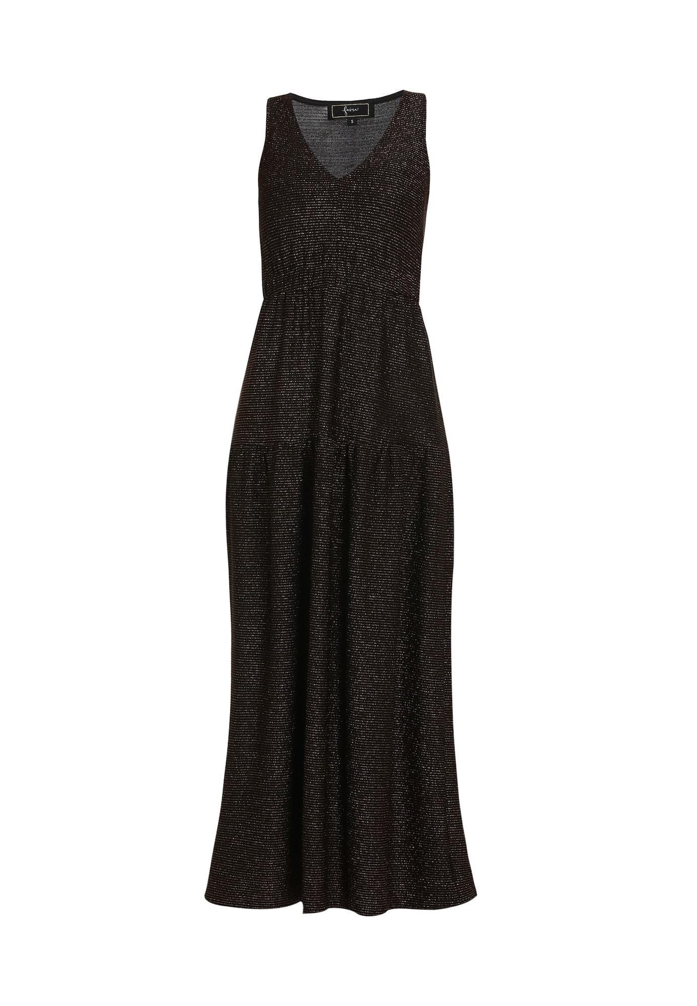 faina Vakarinė suknelė juoda / auksas