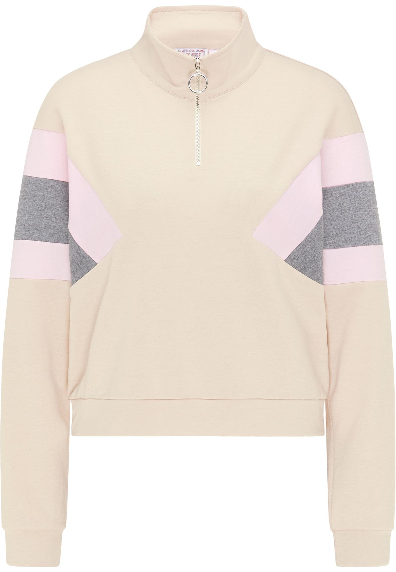 myMo ATHLSR Sportinio tipo megztinis smėlio / pilka / rožių spalva