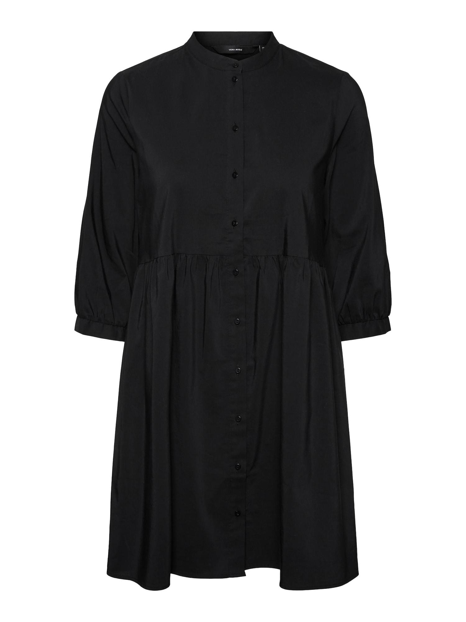 VERO MODA Košilové šaty 'Sisi'  černá